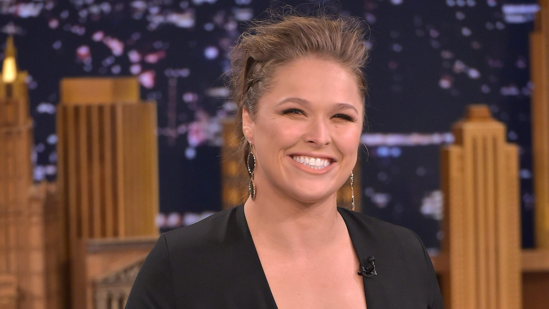 Ronda Rousey visits 'The Tonight Show Starring Jimmy Fallon' on October 6, 2015 in New York City.