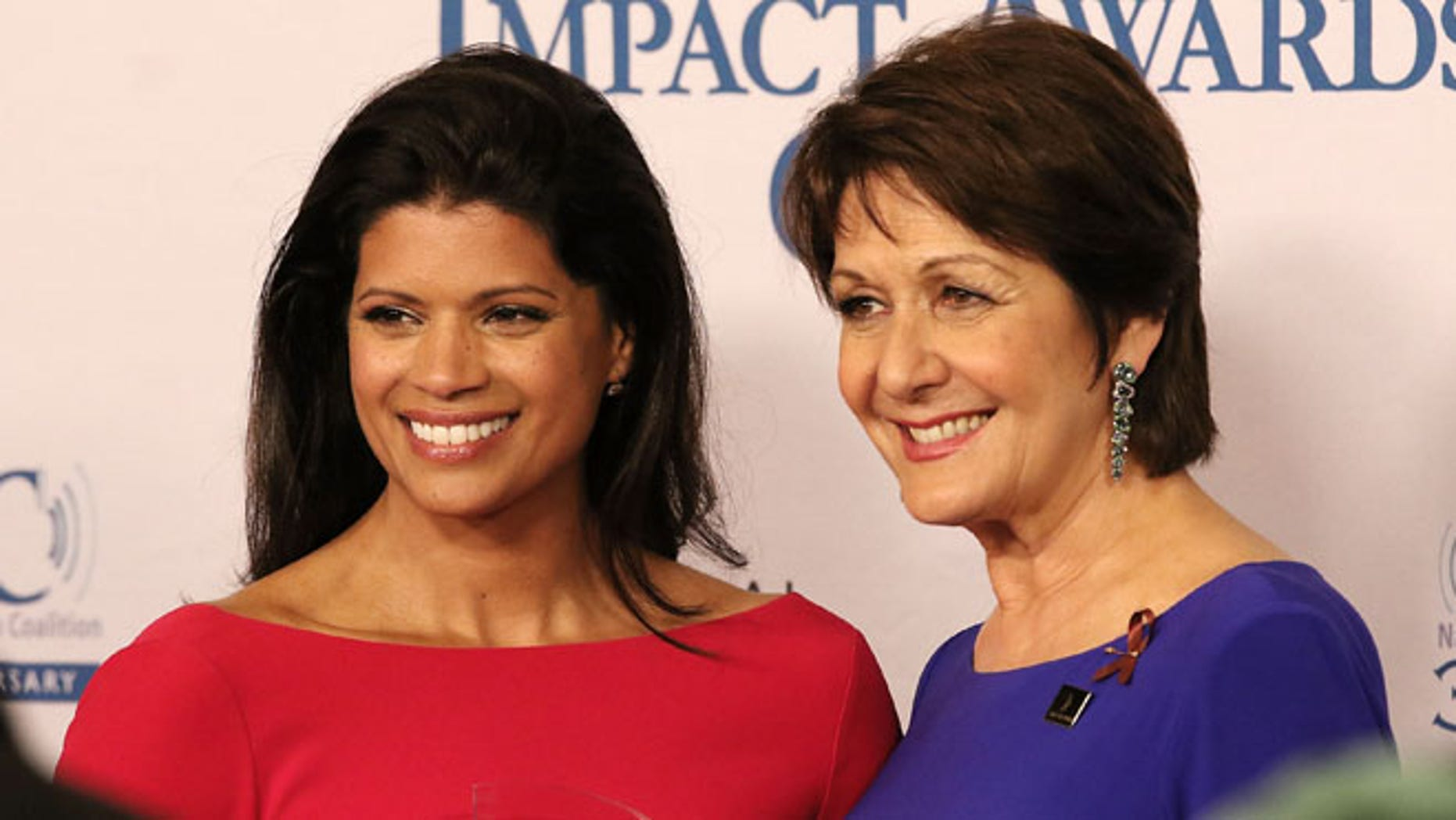 BEVERLY HILLS, CA - FEBRUARY 26:  Actresses Andrea Navedo (L) and Ivonne Coll attend the 19th Annual National Hispanic Media Coalition Impact Awards Gala at Regent Beverly Wilshire Hotel on February 26, 2016 in Beverly Hills, California.  (Photo by JC Olivera/Getty Images for National Hispanic Media Coalition)