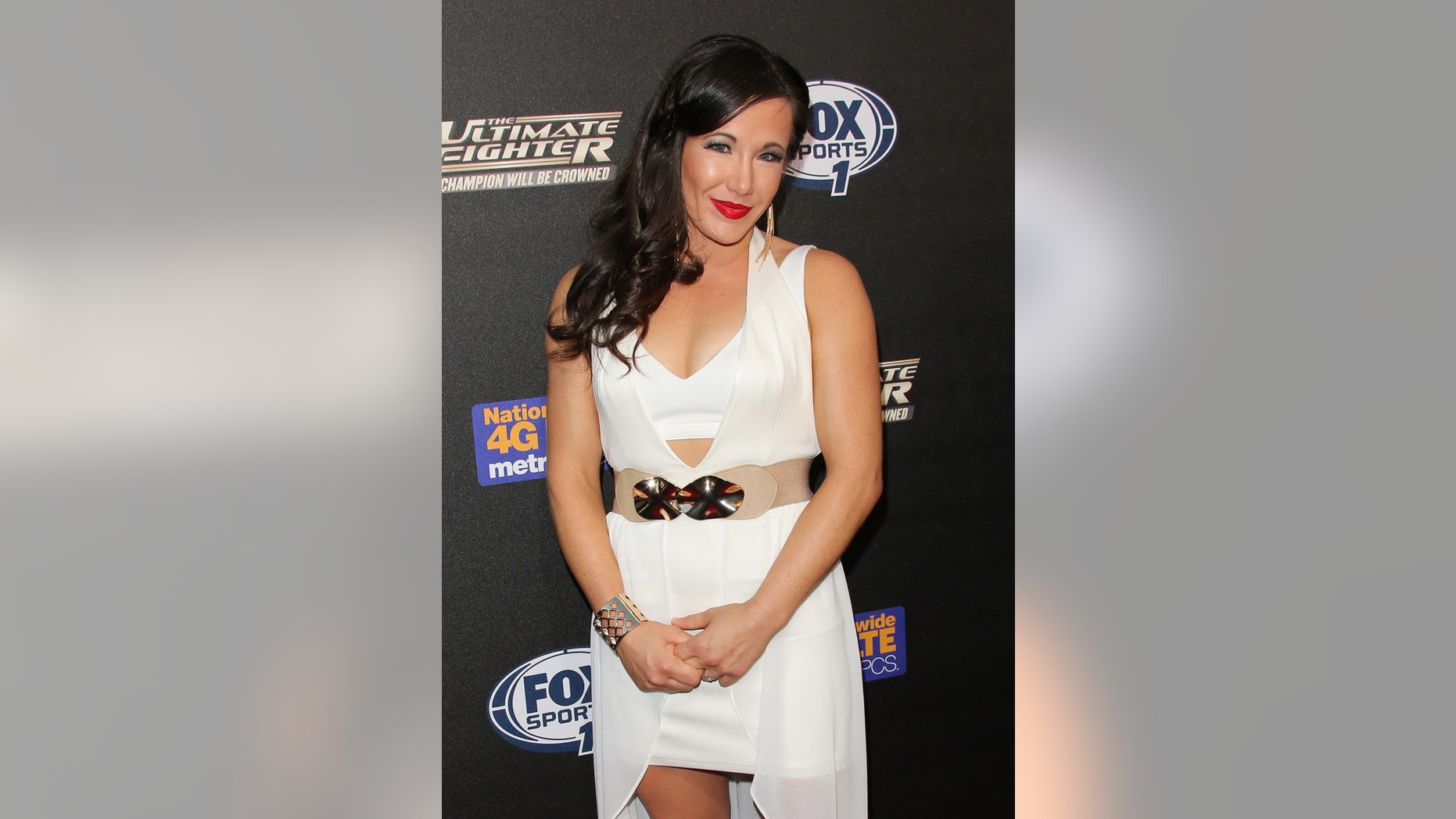 """UFC Fighter Angela Magana attends FOX Sports 1's """"The Ultimate Fighter"""" season premiere party at Lure in Hollywood."""