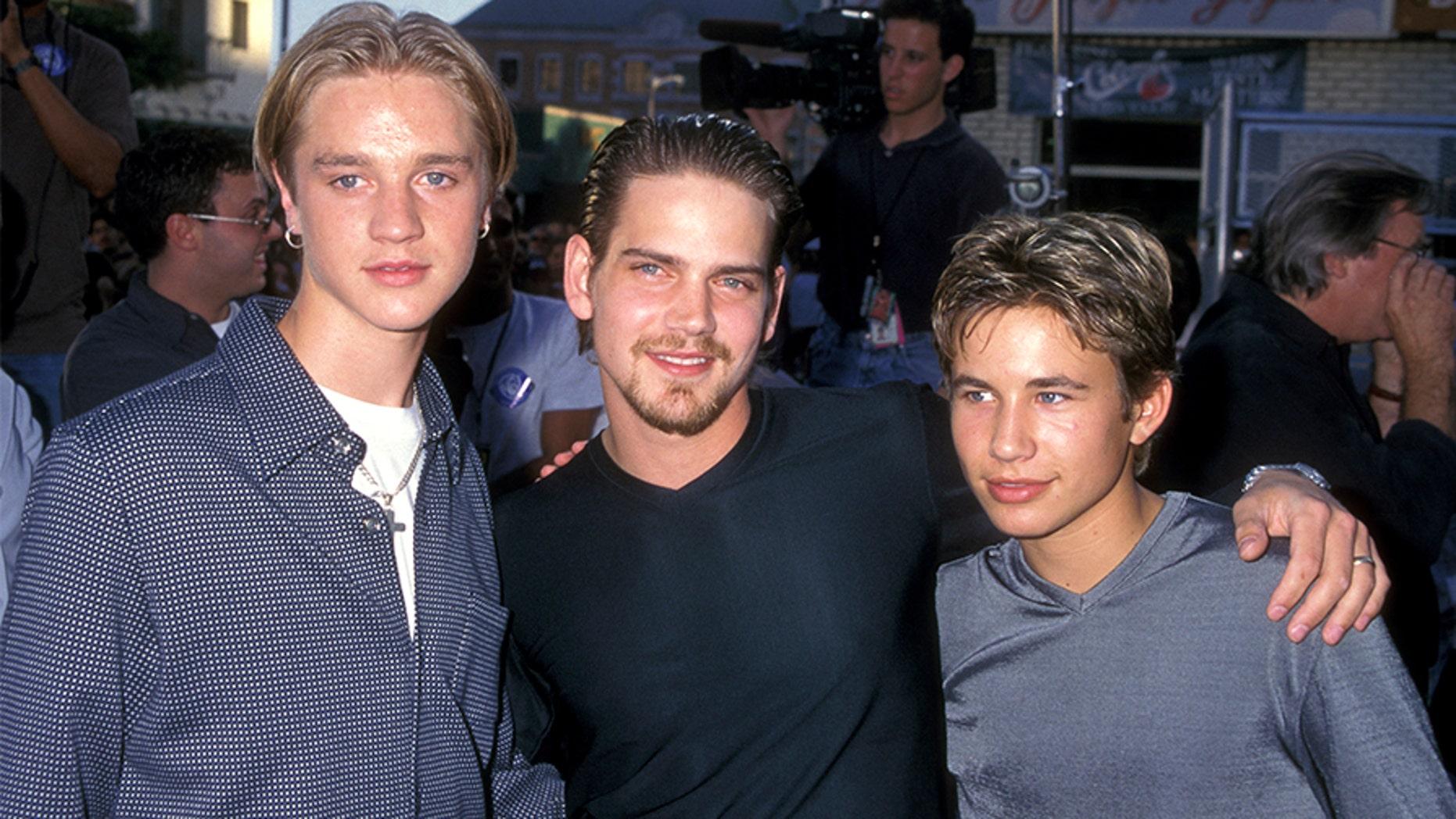 Devon Sawa (L), Scott Bairstow and Jonathan Taylor Thomas.