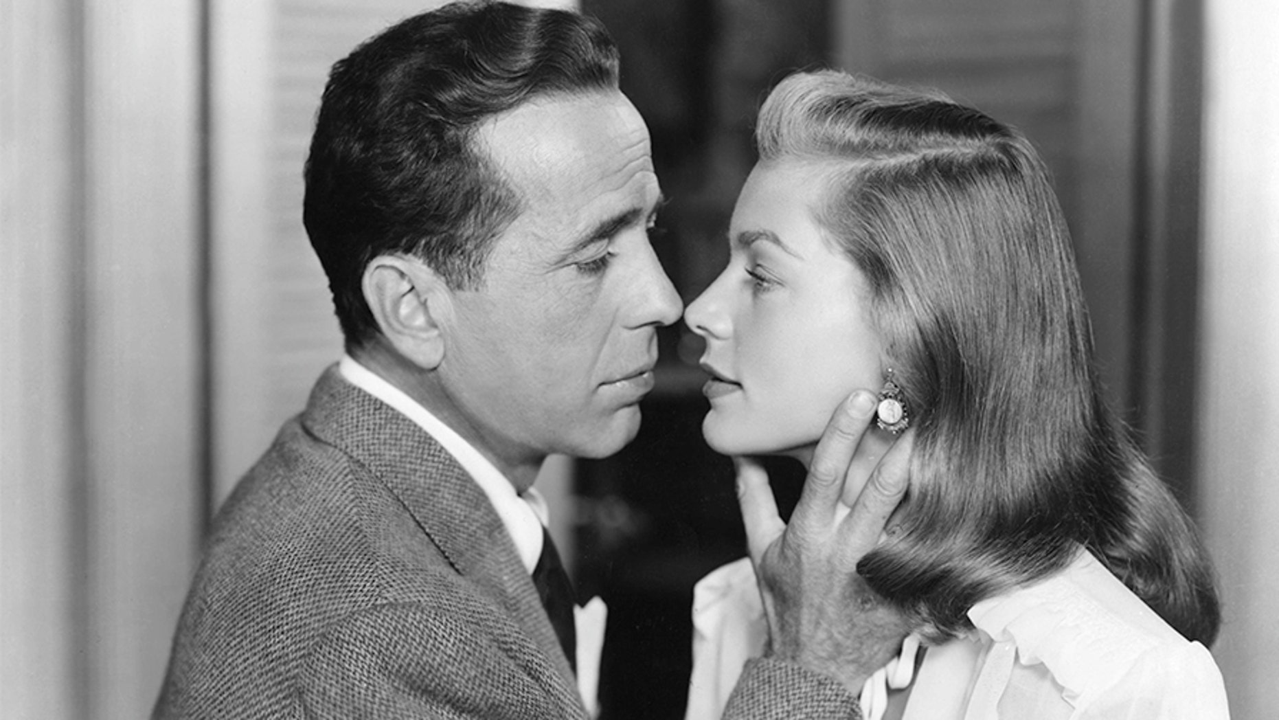 "Lauren Bacall with husband Humphrey Bogart in ""The Big Sleep,"" which was directed by Howard Hawks."