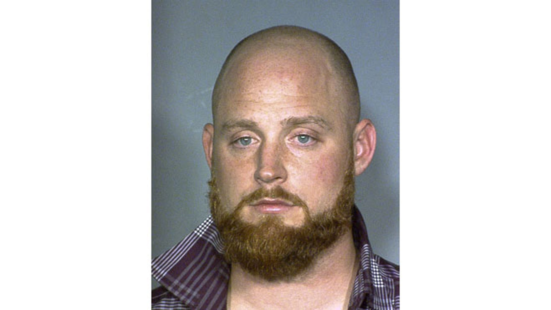 July 11, 2013: This photo released by the Las Vegas Metropolitan Police Department shows San Francisco Giants pitcher, Chad Gaudin, 30, who was arrested Jan. 27,2013, and charged with lewdness. Police say Gaudin was drunk when he approached a 23-year-old woman on a gurney at Desert Springs Hospital, told her she was gorgeous and touched her face and breast earlier this year.