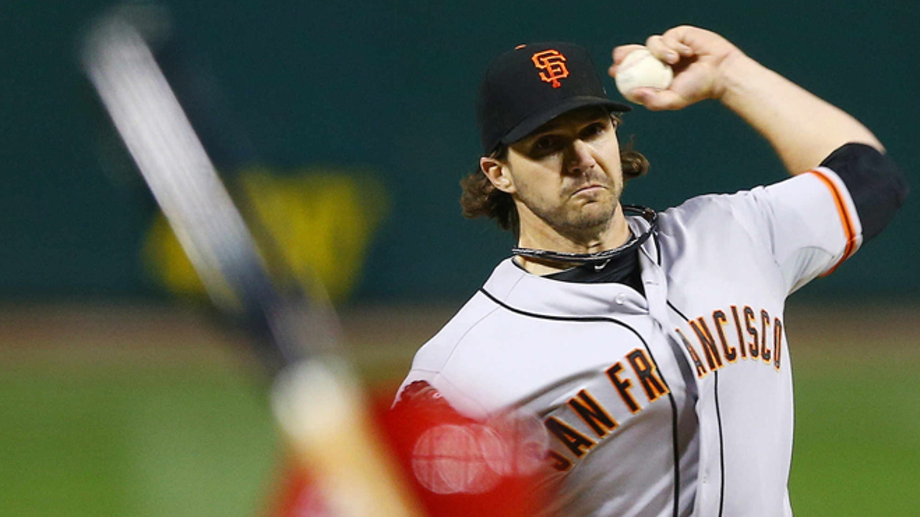 Oct. 20, 2012: San Francisco Giants starting pitcher Barry Zito throws during the first inning of Game 5 of baseball's National League championship series against the St. Louis Cardinals in St. Louis.