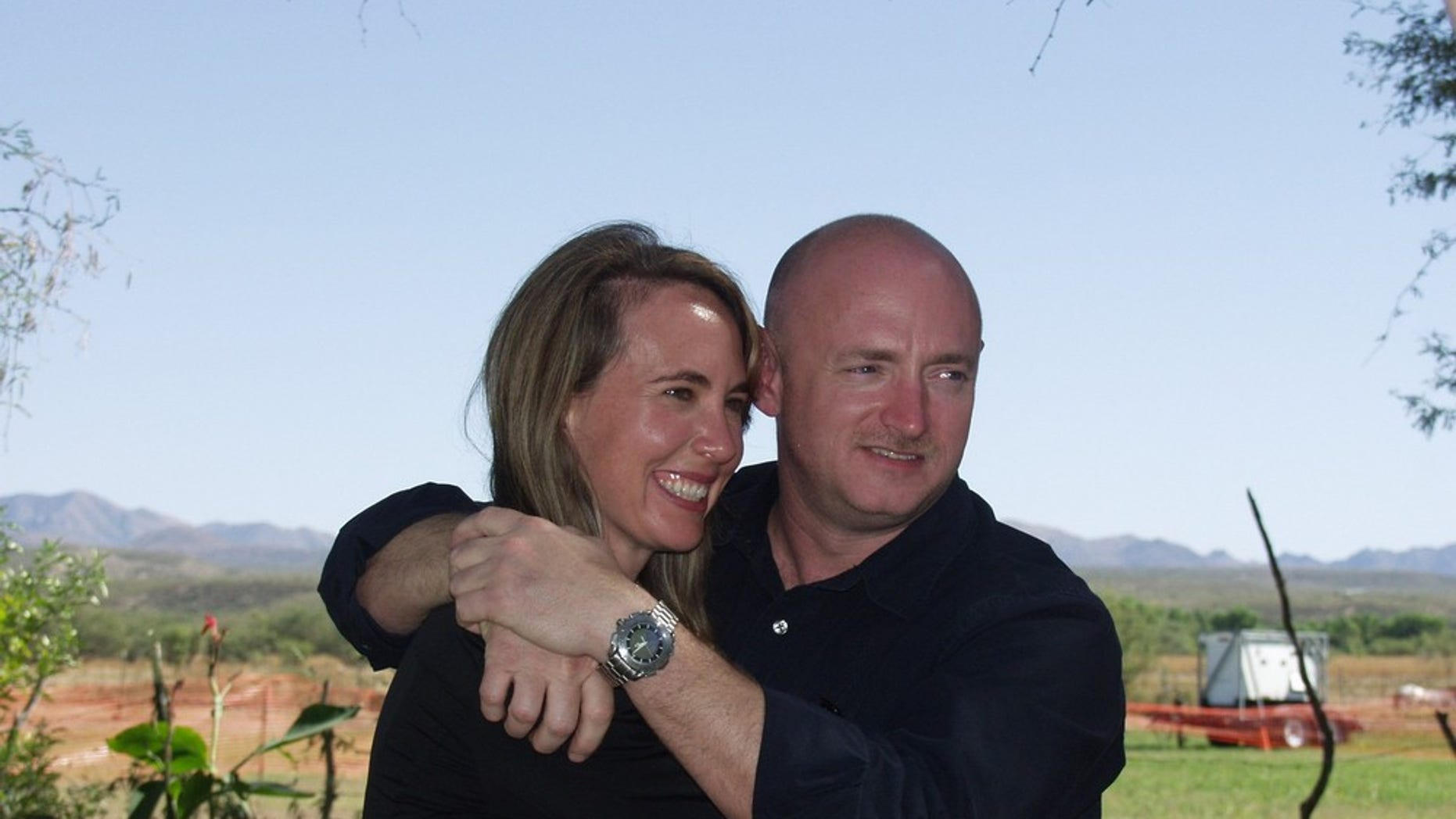November 2007: Rep. Gabrielle Giffords with her husband NASA Astronaut Mark Kelly