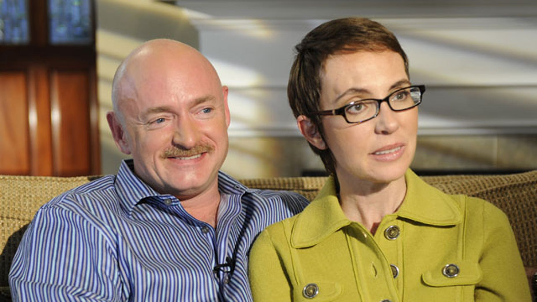 November 14, 2011: In this undated photo provided by ABC, U.S. Rep. Gabrielle Giffords and husband Mark Kelly are interviewed by Diane Sawyer on ABC's 20/20.