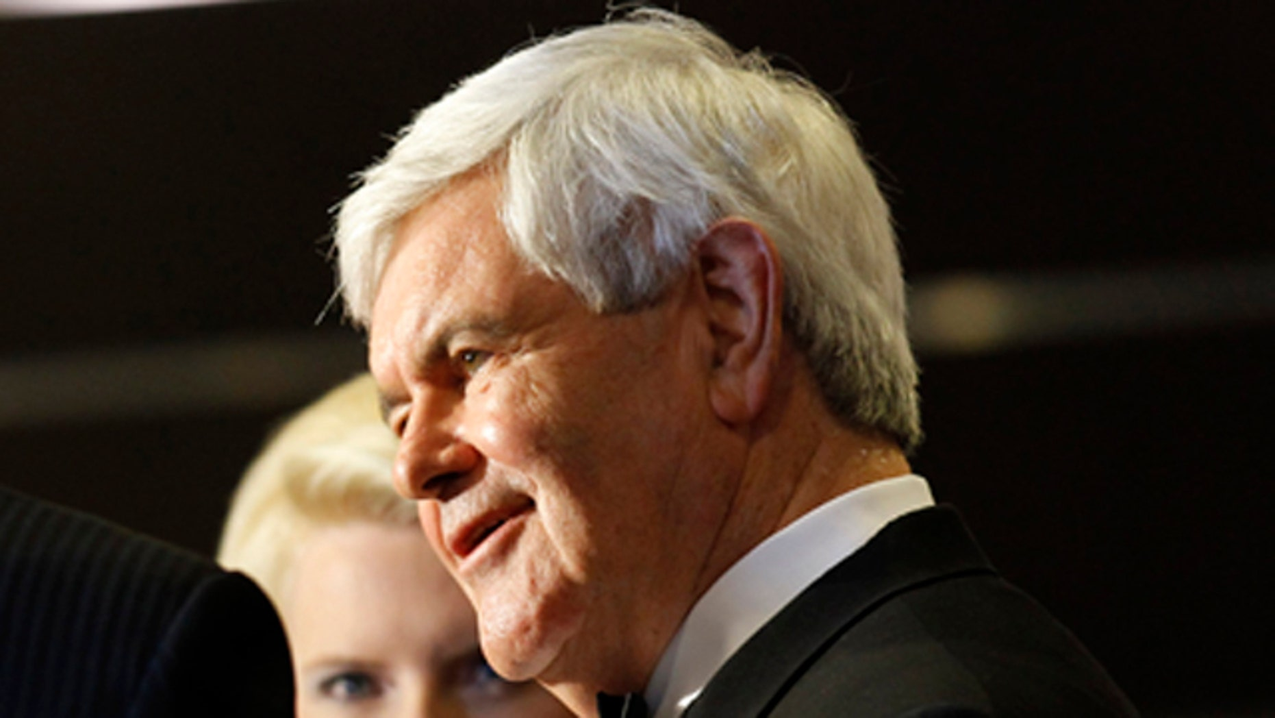 April 30: Former Speaker Newt Gingrich at the White House Correspondents Dinner in Washington.