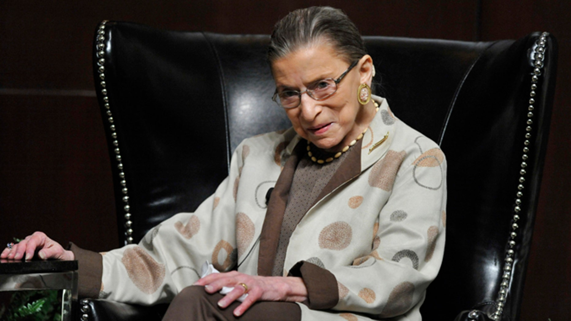 May 11, 2013: U.S. Supreme Court Justice Ruth Bader Ginsburg discusses the Roe vs. Wade case on it's 40th anniversary at The University of Chicago Law School in Chicago.