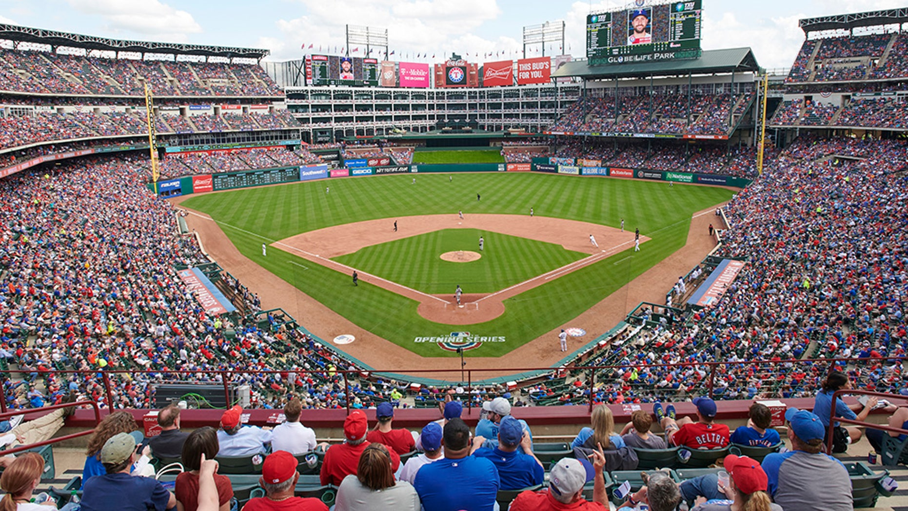 The Texas Rangers pulled off a play on Thursday at Globe Life Park that reportedly hasn't been seen in more than 100 years.