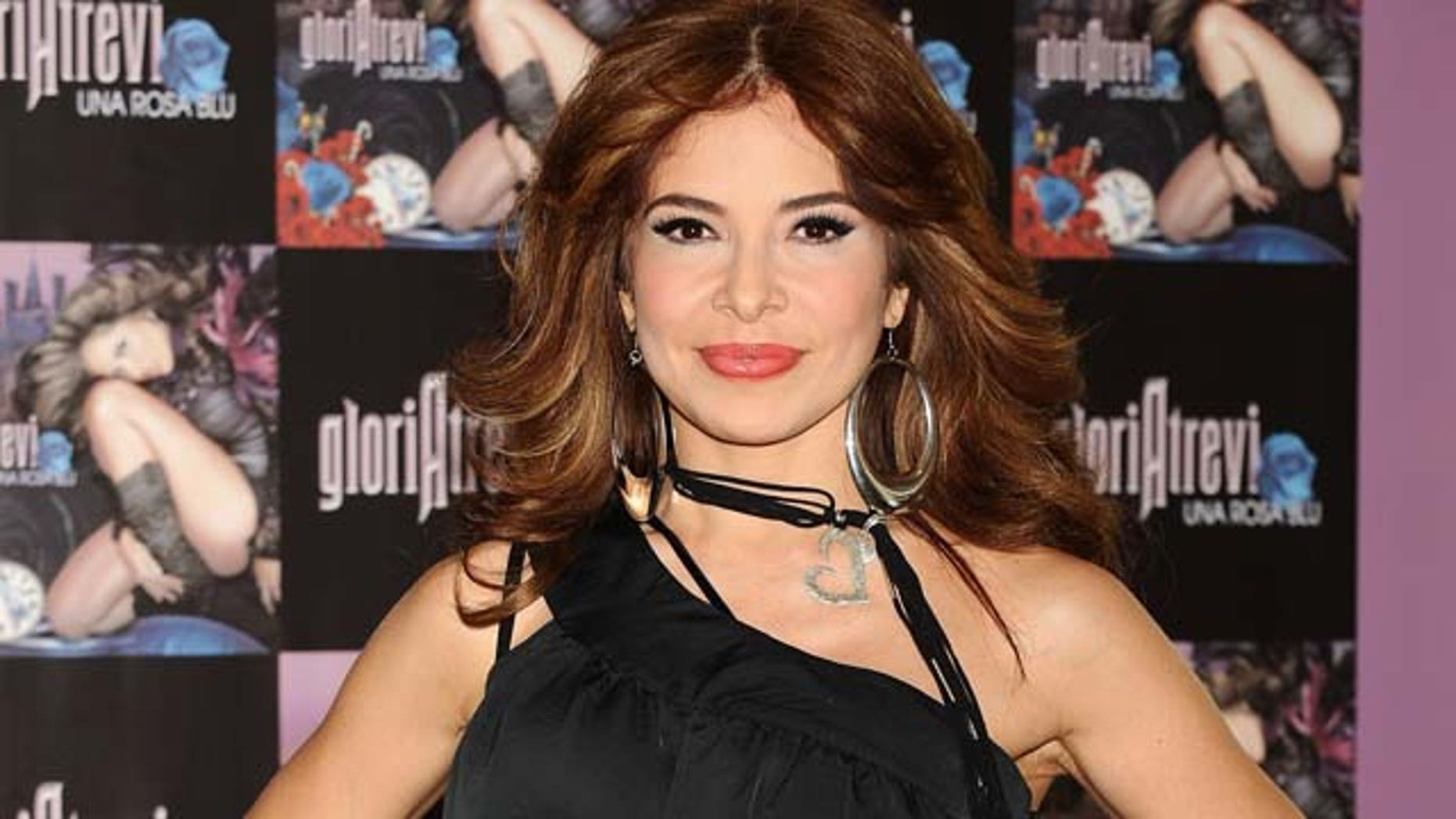 July 2, 2009: Mexican singer Gloria Trevi presents her new album 'Una Rosa Blu' at Hotel de las Letras in Madrid, Spain.