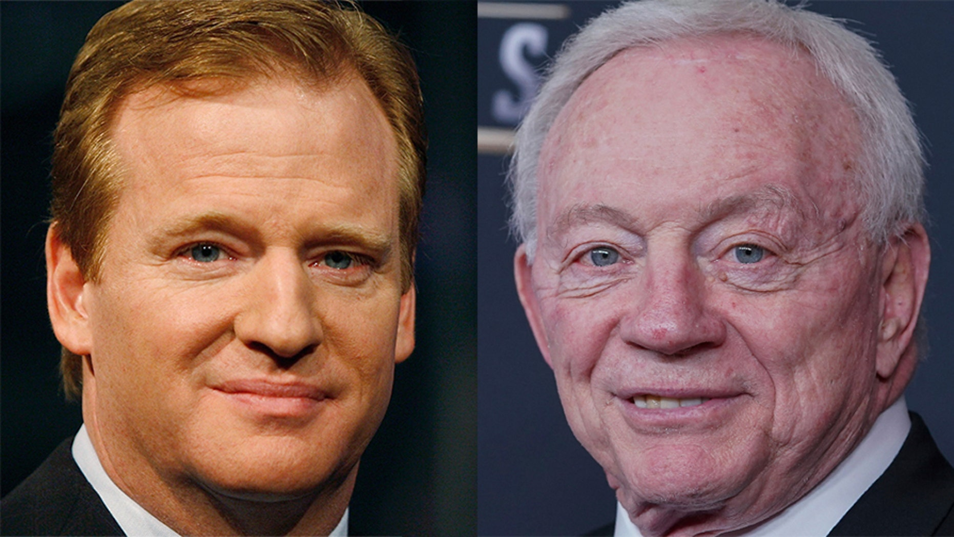 Roger Goodell, left, clashed with Jerry Jones over Goodell's compensation and the Ezekiel Elliott suspension.