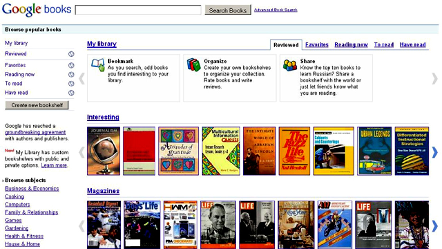 From the Google Books site seen here, the company will start selling books, an attempt to crack into the market of distributing current and backlist works.