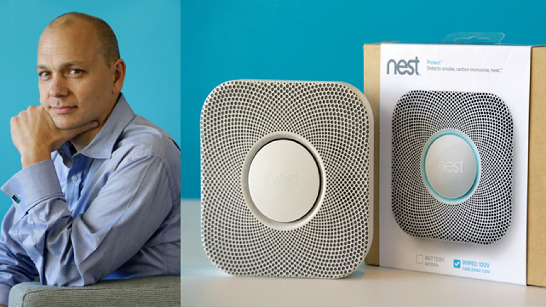 ILE - In this Tuesday, Oct. 1, 2013, file photo, Tony Fadell, Founder and CEO of Nest, poses for a portrait in the company's offices in Palo Alto, Calif. Google said Monday, Jan. 13, 2014, it will pay $3.2 billion to buy Nest Labs, which develops high-tech versions of devices like thermostats and smoke detectors