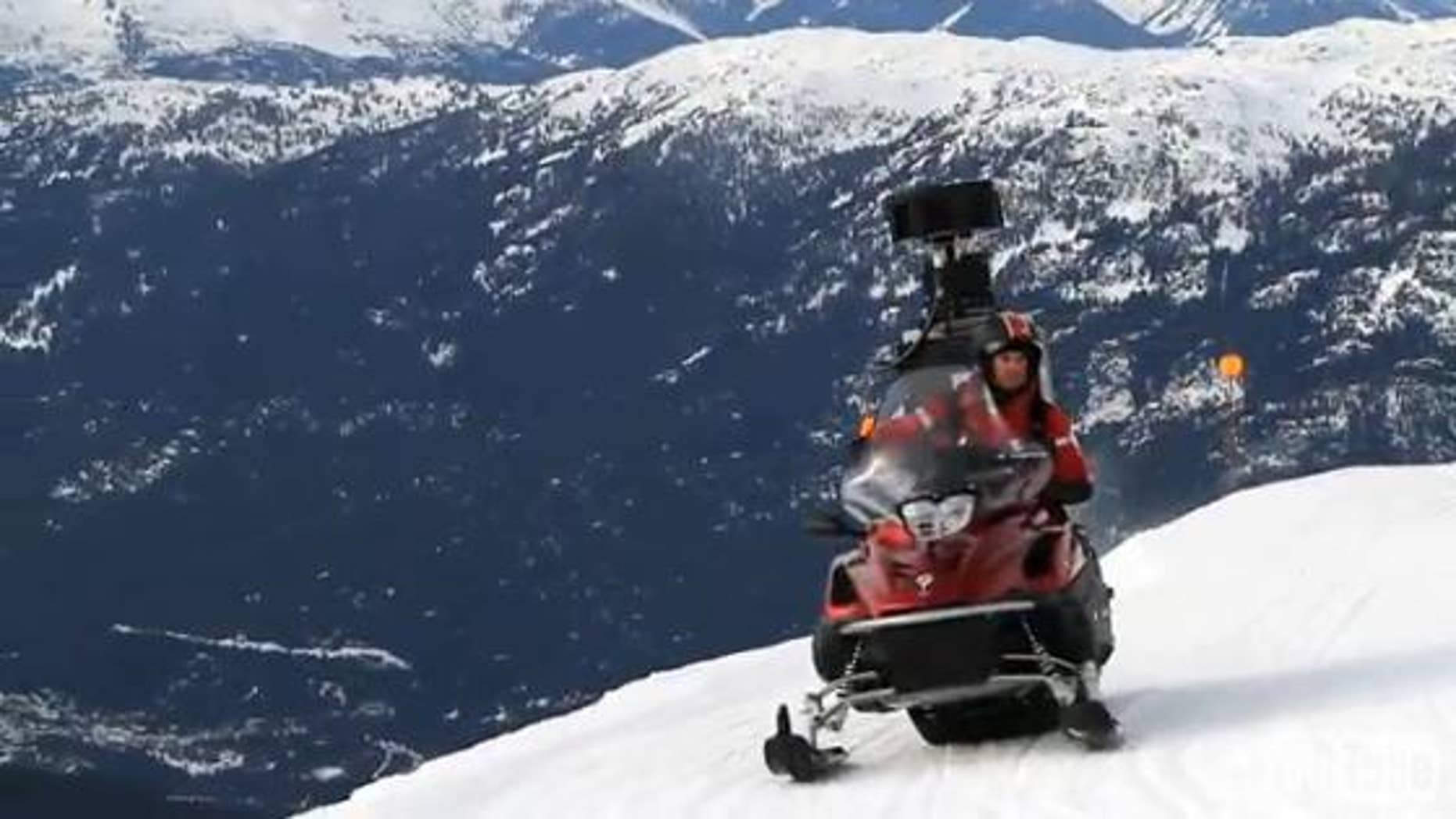 Just in time for the Winter Olympics, Google has expanded its street view mapping technology through a customzied snowmobile.