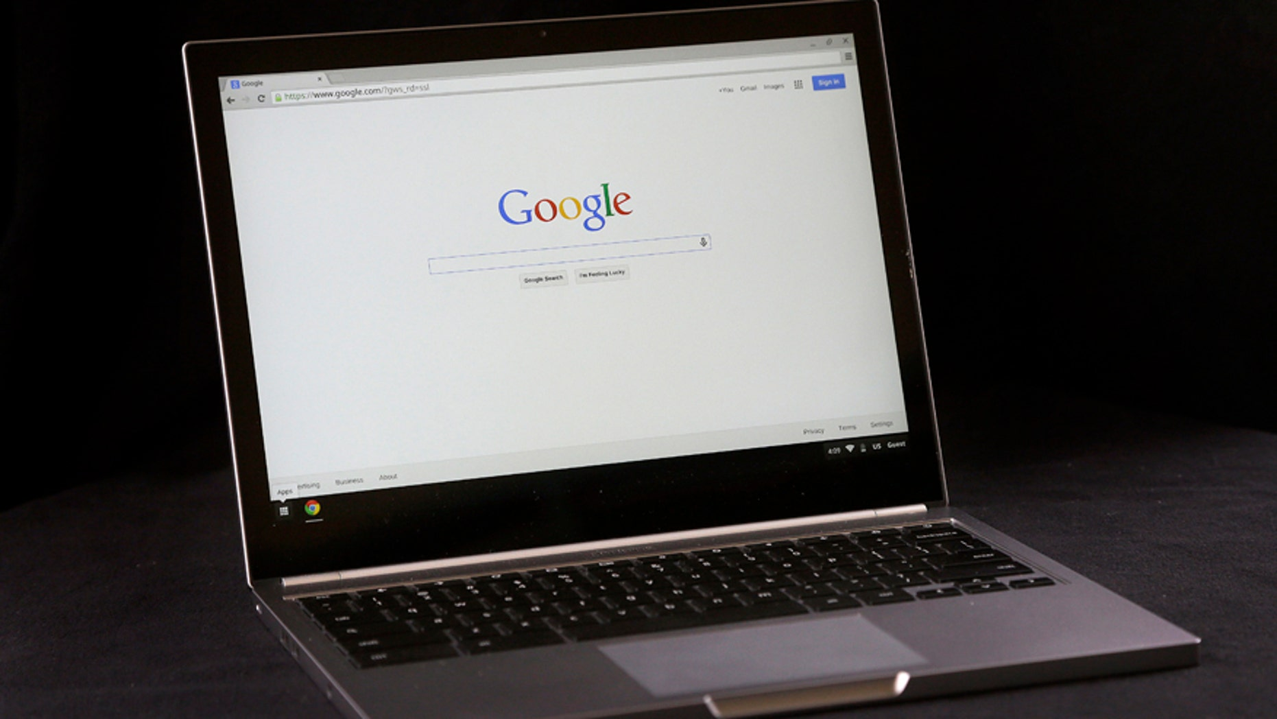 File photo - This Tuesday, March 10, 2015 photo shows the Google Chromebook Pixel laptop, in San Jose, Calif.