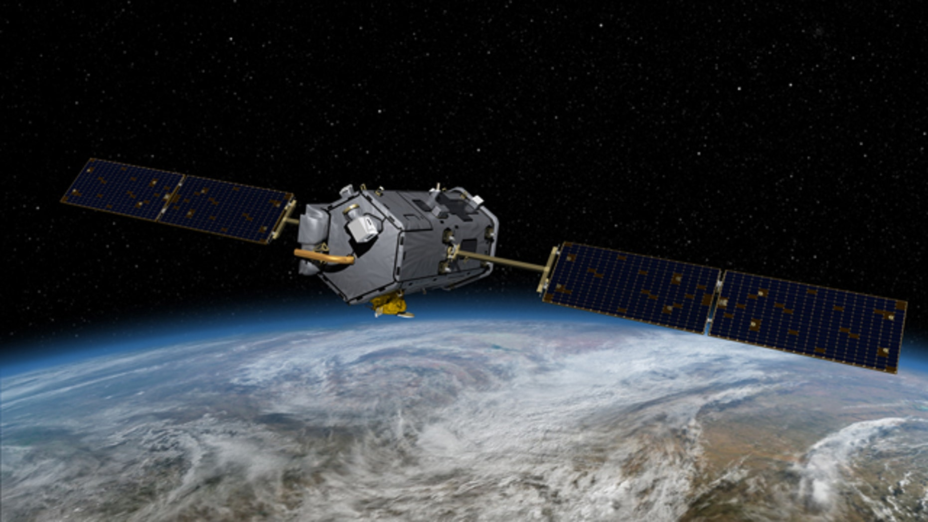 An artist's conception of the Orbiting Carbon Observatory satellite that splashed into the ocean near Antarctica in February 2009. Even if nations agree to cut greenhouse gas emissions, how will the world know if they are living up to their pledges? The answer may come from both outer space and cyberspace.