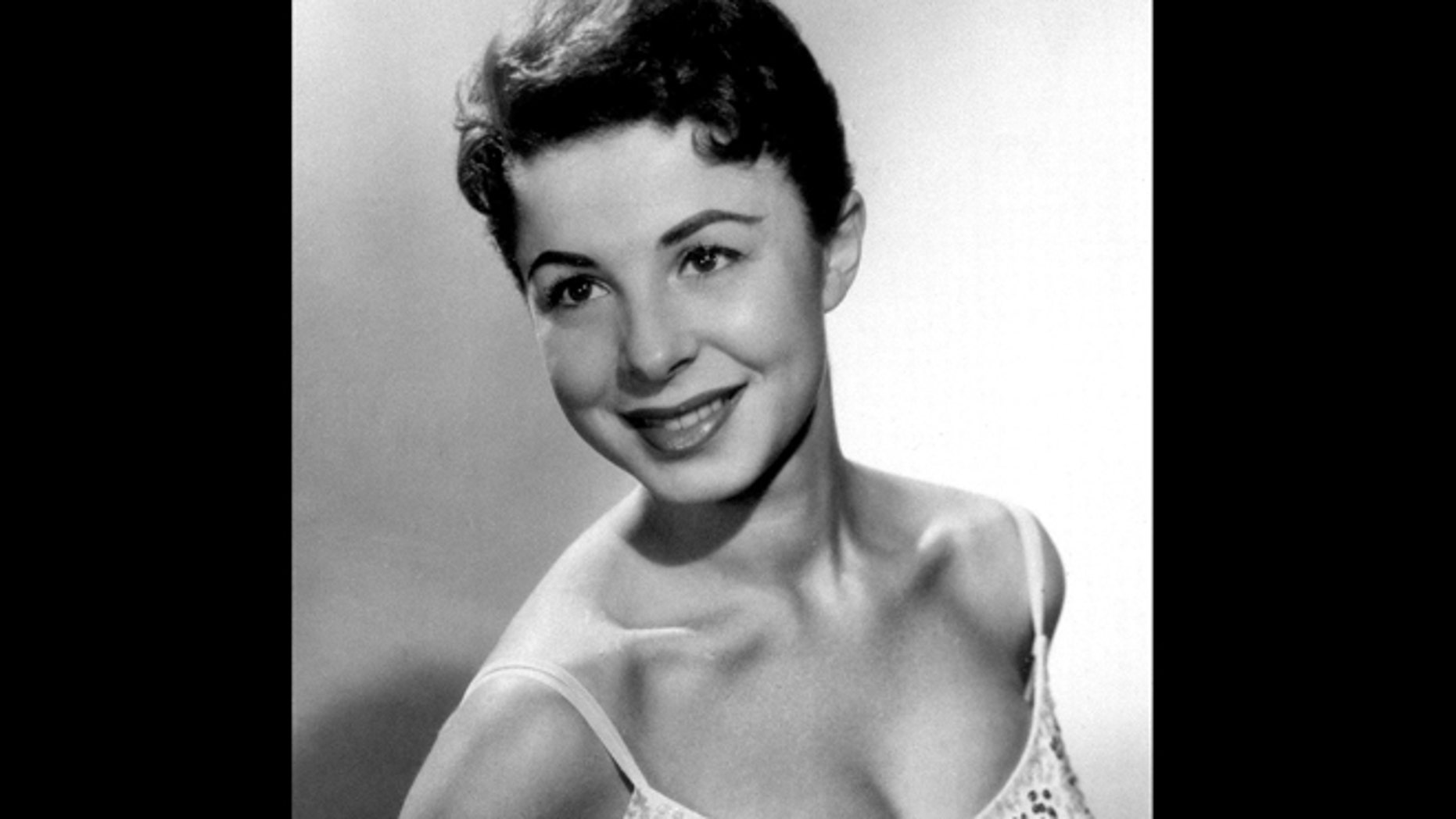 This 1956 file photo shows Eydie Gorme. Gorme, a popular nightclub and television singer as a solo act and as a team with husband Steve Lawrence, has died. She was 84.