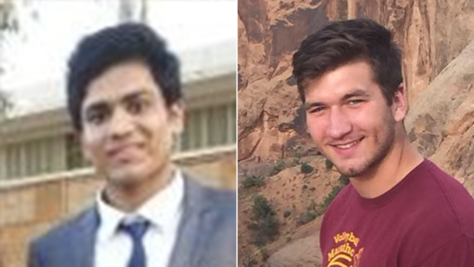 Akash S. Taneja, left, and Kyle Gotchel were both found dead on the Rutgers University campus.