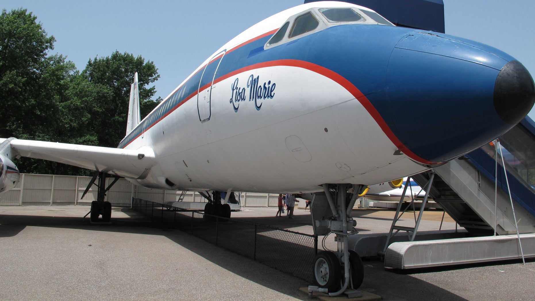 July 1, 2014. The Lisa Marie, one of two jets once owned by late singer Elvis Presley, that is used as a tourist exhibit at the Graceland tourist attraction in Memphis, Tenn. The company that operates the Graceland tourist attraction has told the current owners of the Lisa Marie, and another plane called the Hound Dog II, that it wants the planes removed from Graceland by late April 2015, or shortly afterward.