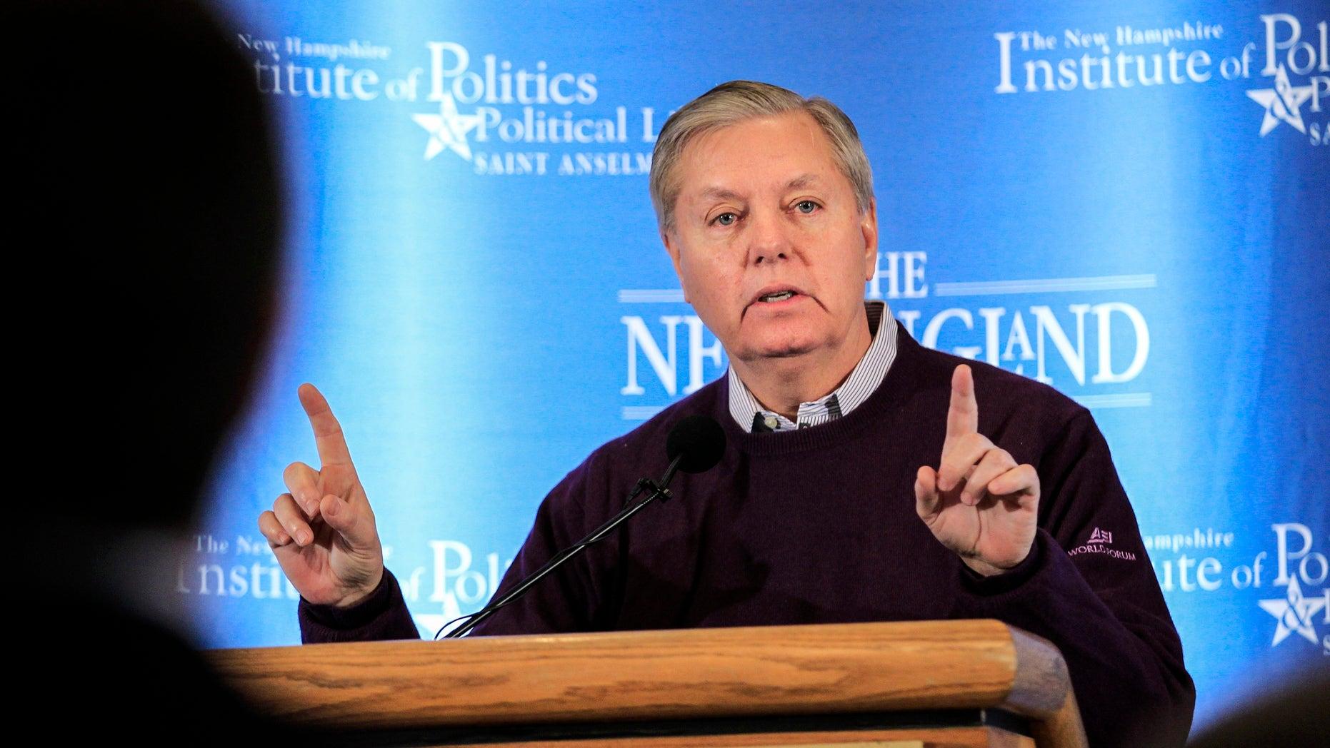 U.S. Sen. Lindsey Graham of South Carolina on March 9, 2015.