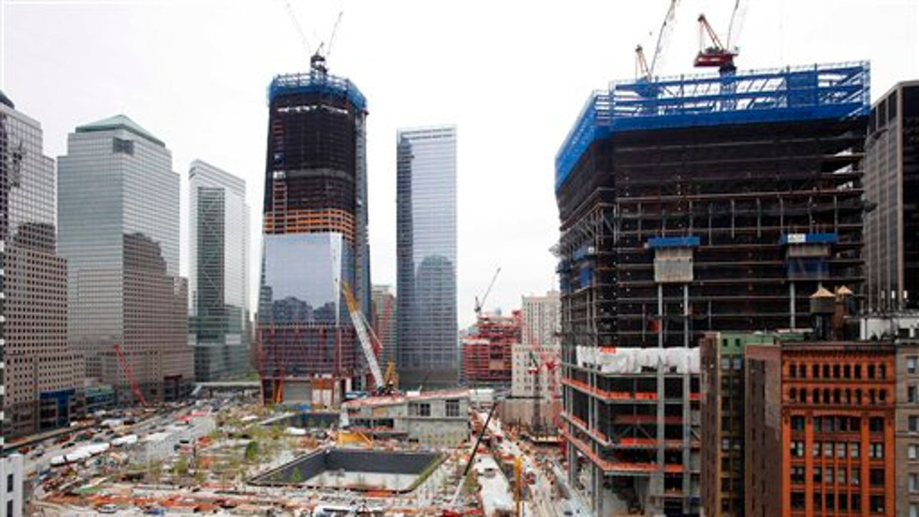 May 2: Work continues at the World Trade Center site and the Freedom Tower in New York.