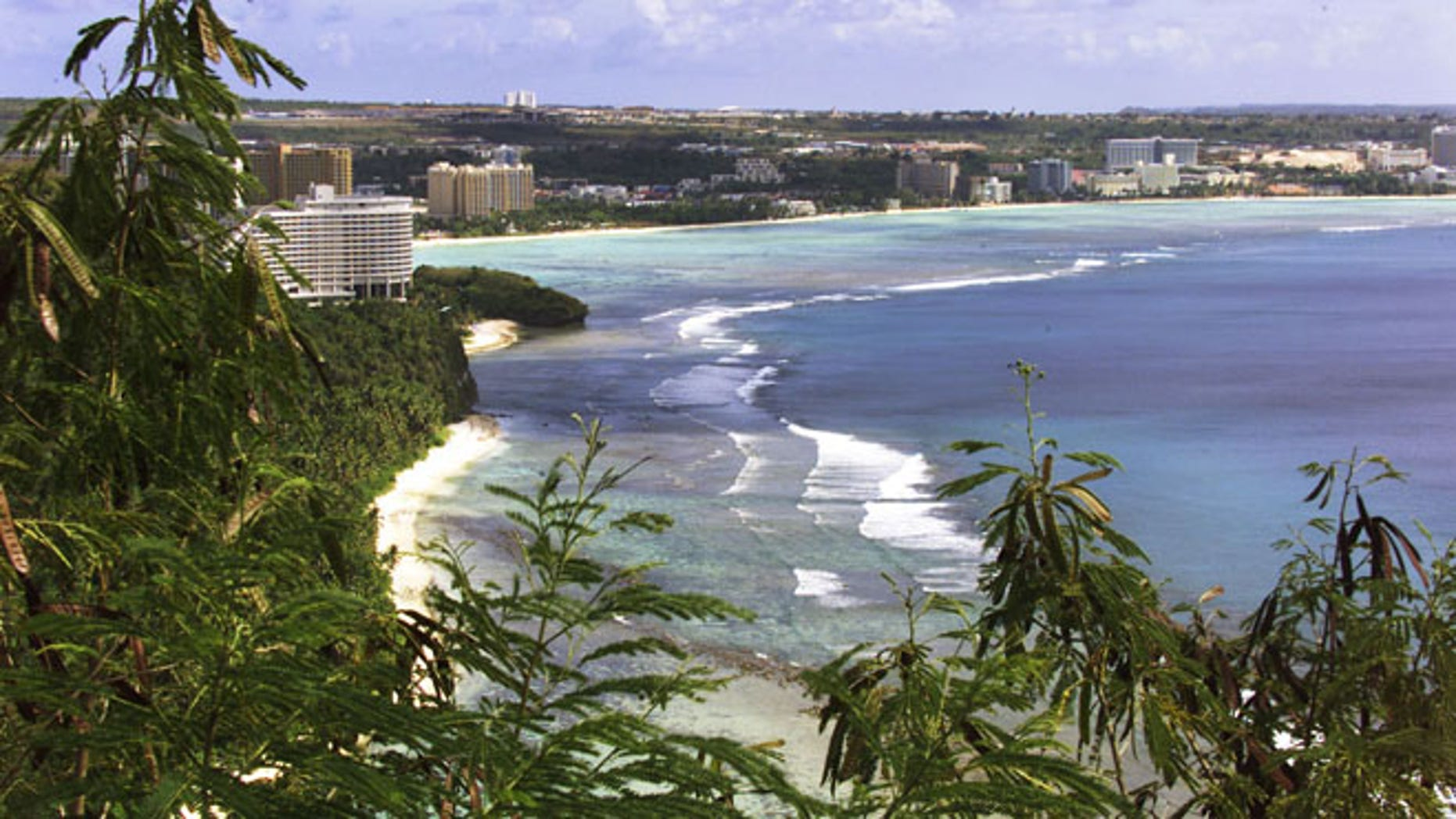 Beachside file photo of Tumon Bay, Guam.