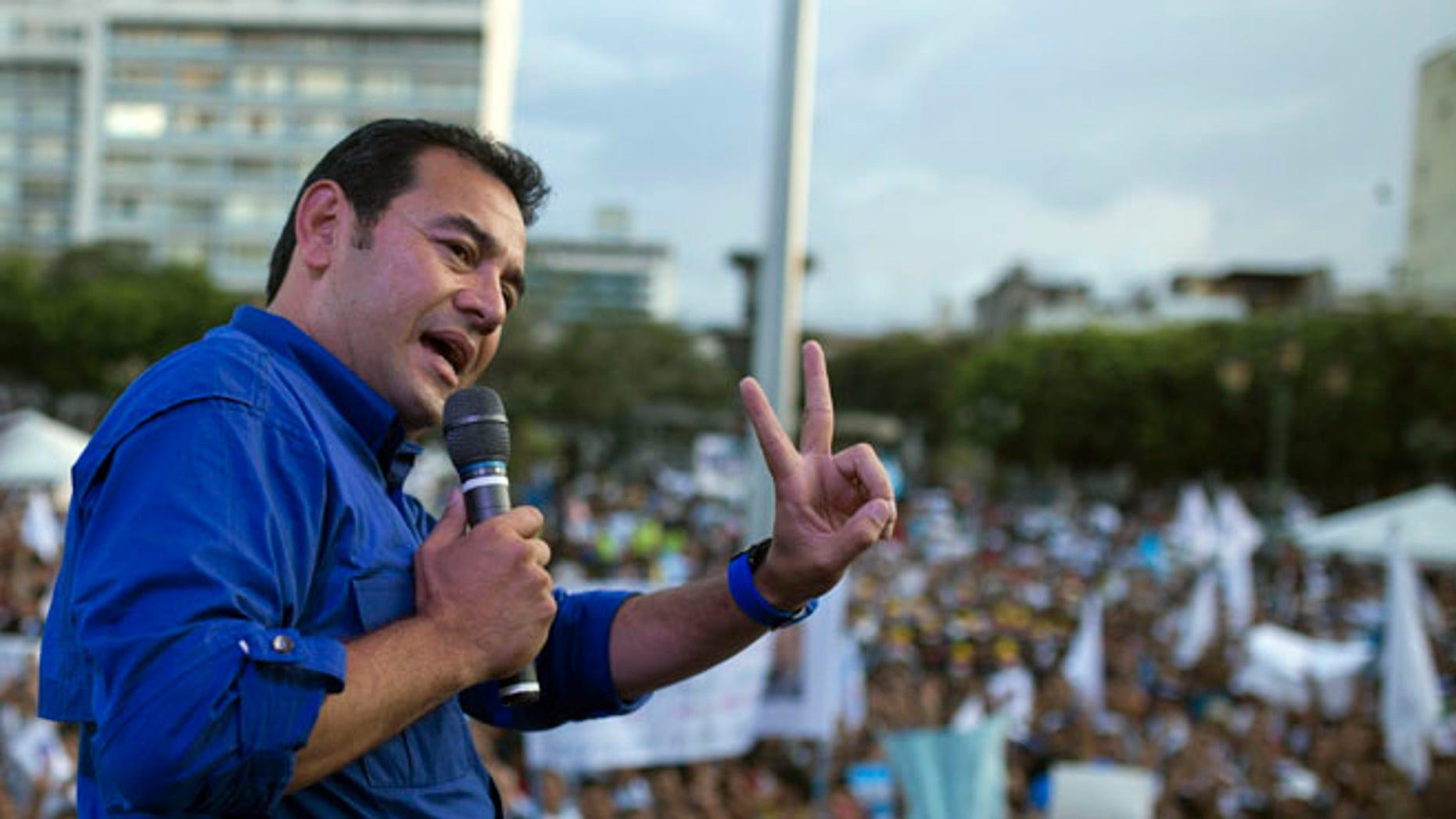 Jimmy Morales, the president of Guatemala. (AP Photo/Luis Soto)