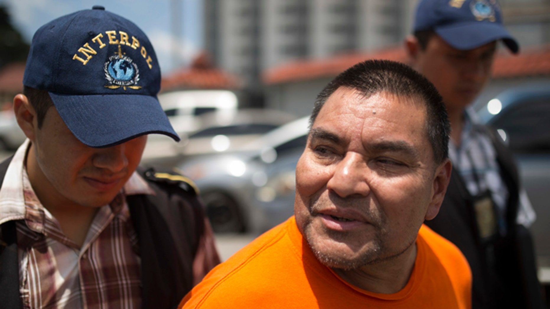 Santos Lopez Alonzo after landing at the Air Force base in Guatemala City, Wednesday, Aug. 10, 2016.