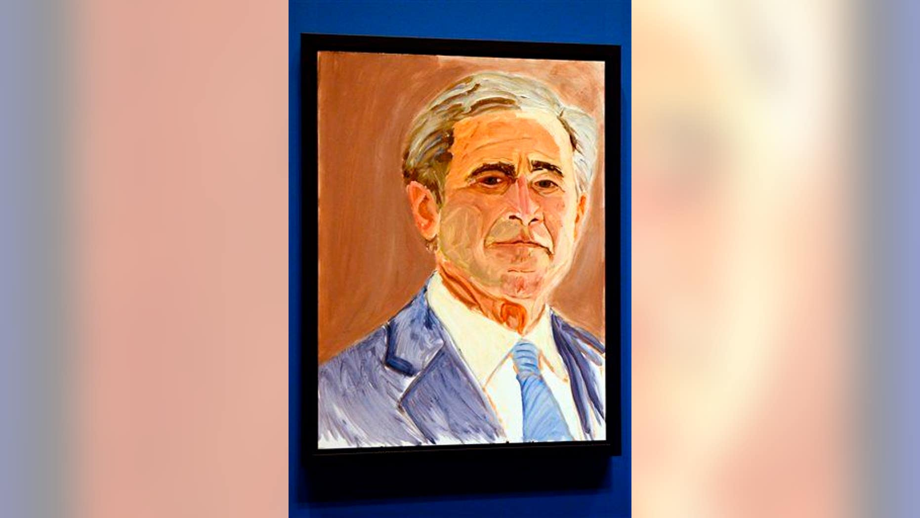 This self-portrait of George W. Bush is rather less revealing than the one Guccifer leaked.