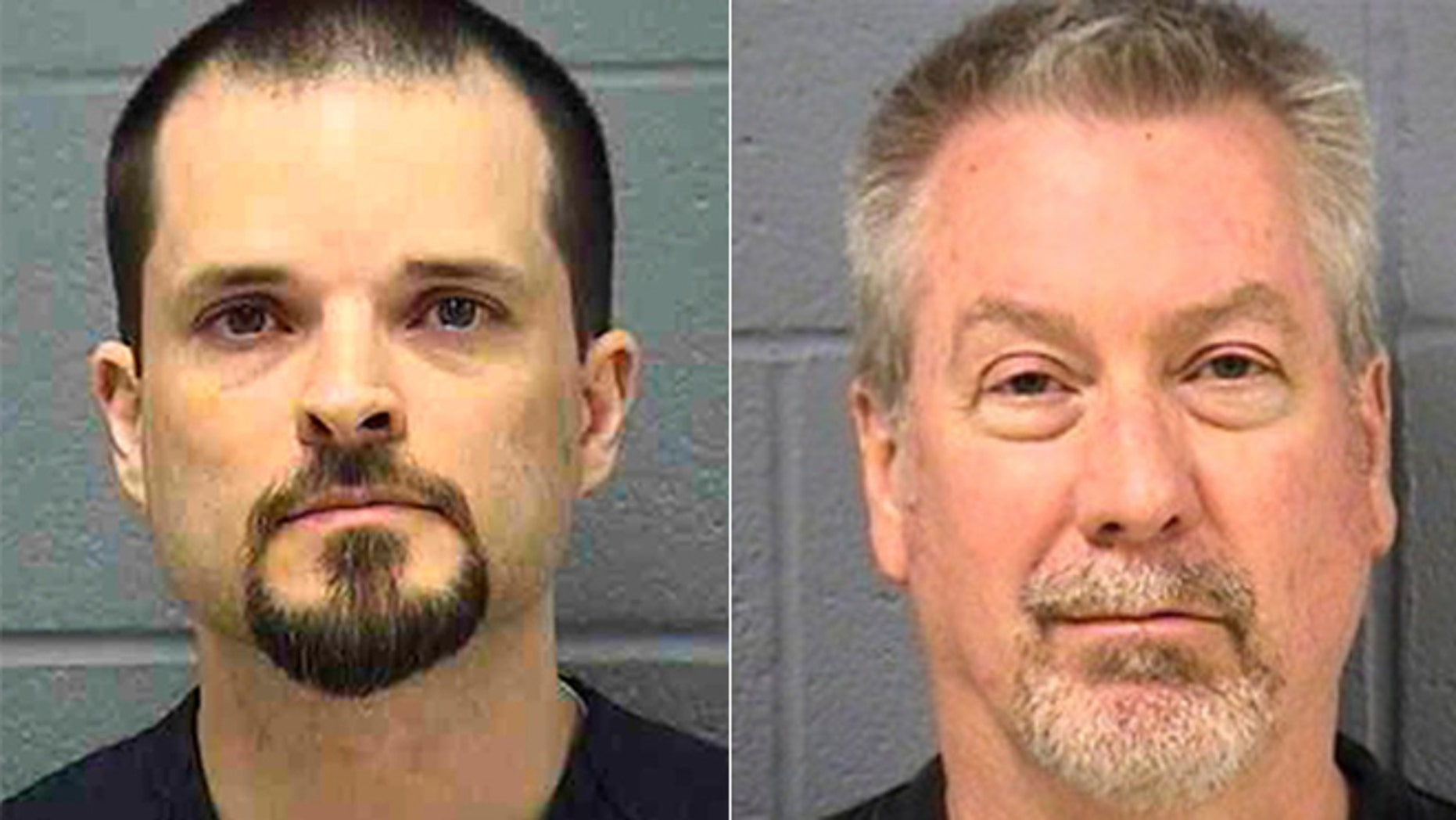 Christopher Vaughn, left, was convicted of fatally shooting his family in their SUV. His trial overlapped with the high-profile trial of Drew Peterson