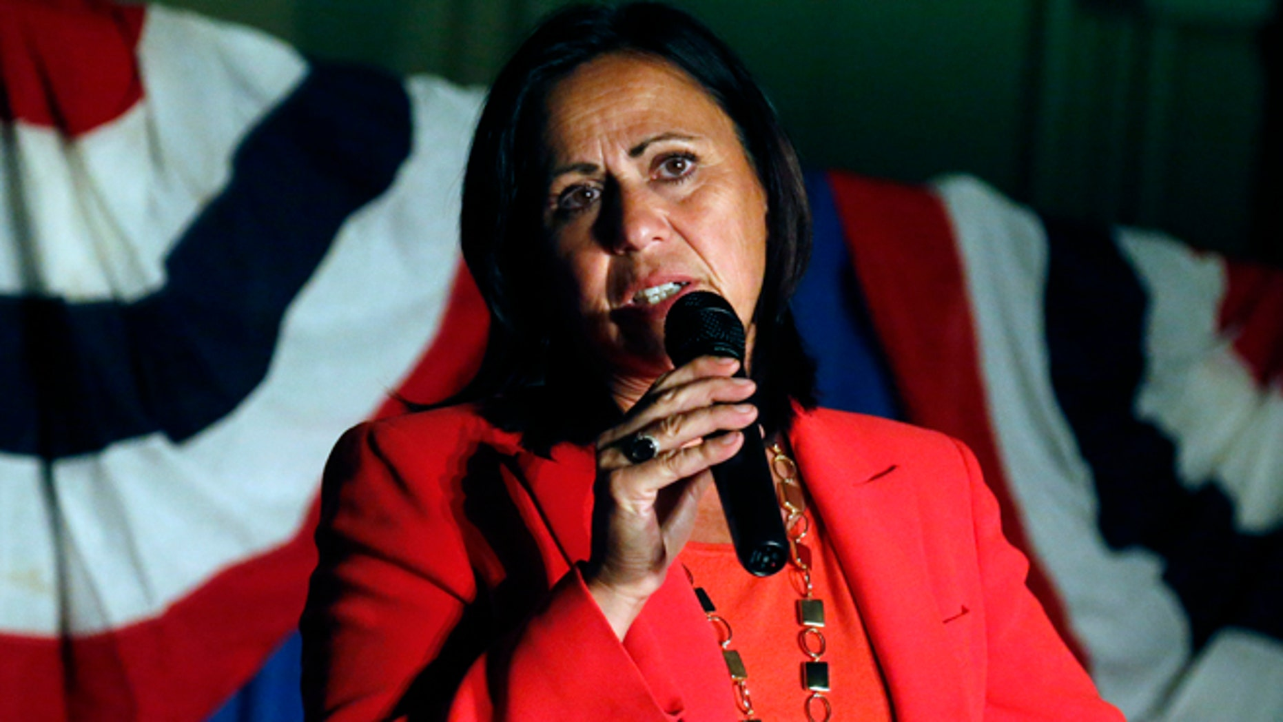 Sept. 10, 2013: Democratic state Sen. Angela Giron gives her concession speech after she lost in a recall vote in Pueblo, Colo.