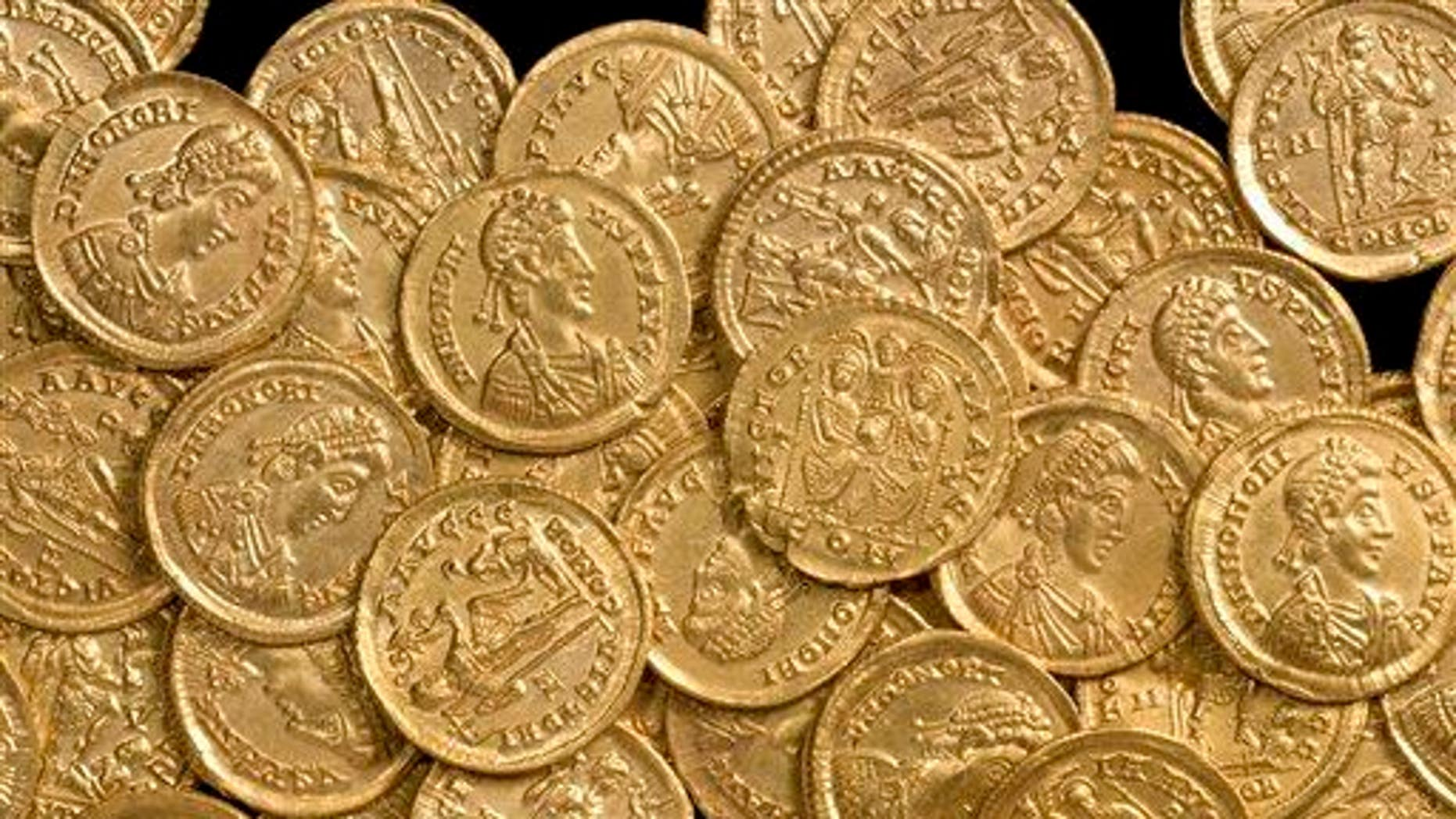 Different Roman coins are shown.