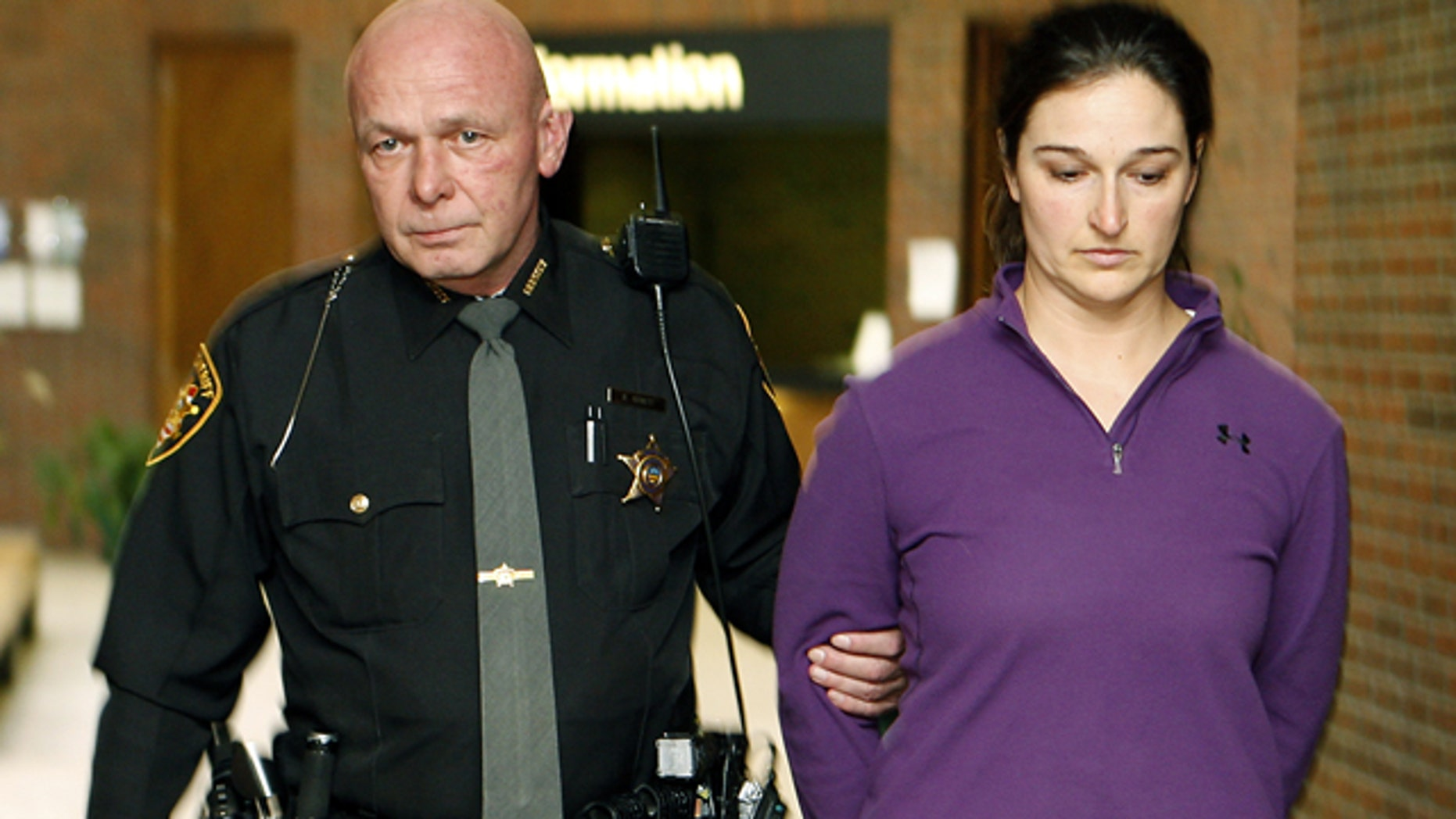 FILE 2011: Stacy Schuler turned herself in at the Warren County Courts Building in Lebanon, Ohio.