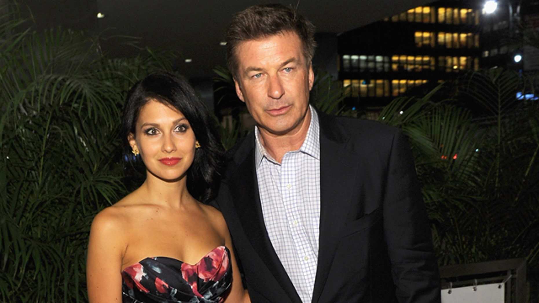"""NEW YORK, NY - JUNE 20:  Hilaria Thomas and Actor Alec Baldwin attend the after party for the Cinema Society with The Hollywood Reporter & Piaget and Disaronno special screening of """"To Rome With Love"""" at Casa Lever on June 20, 2012 in New York City.  (Photo by Larry Busacca/Getty Images)"""