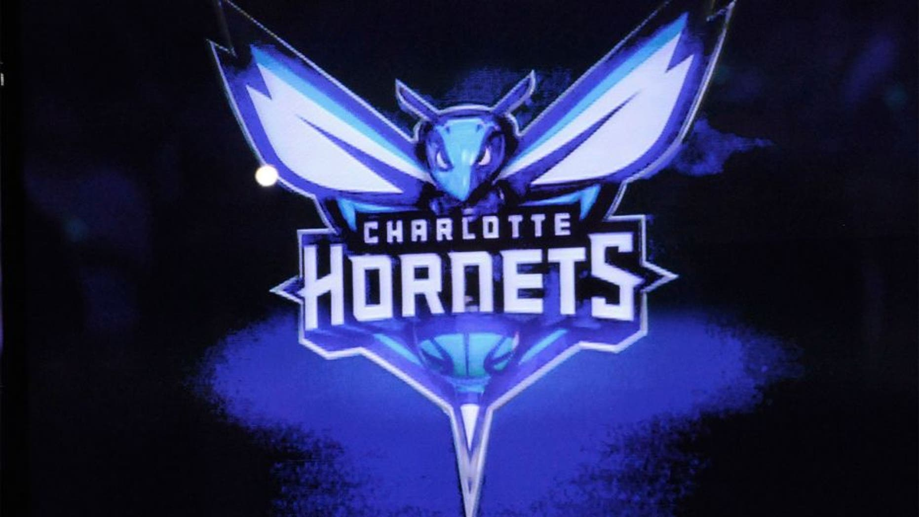 Dec 21, 2013; Charlotte, NC, USA; The Charlotte Bobcats unveil their new branding logo as the Charlotte Hornets for the 2014 season at halftime during the game against the Utah Jazz at Time Warner Cable Arena. Mandatory Credit: Sam Sharpe-USA TODAY Sports