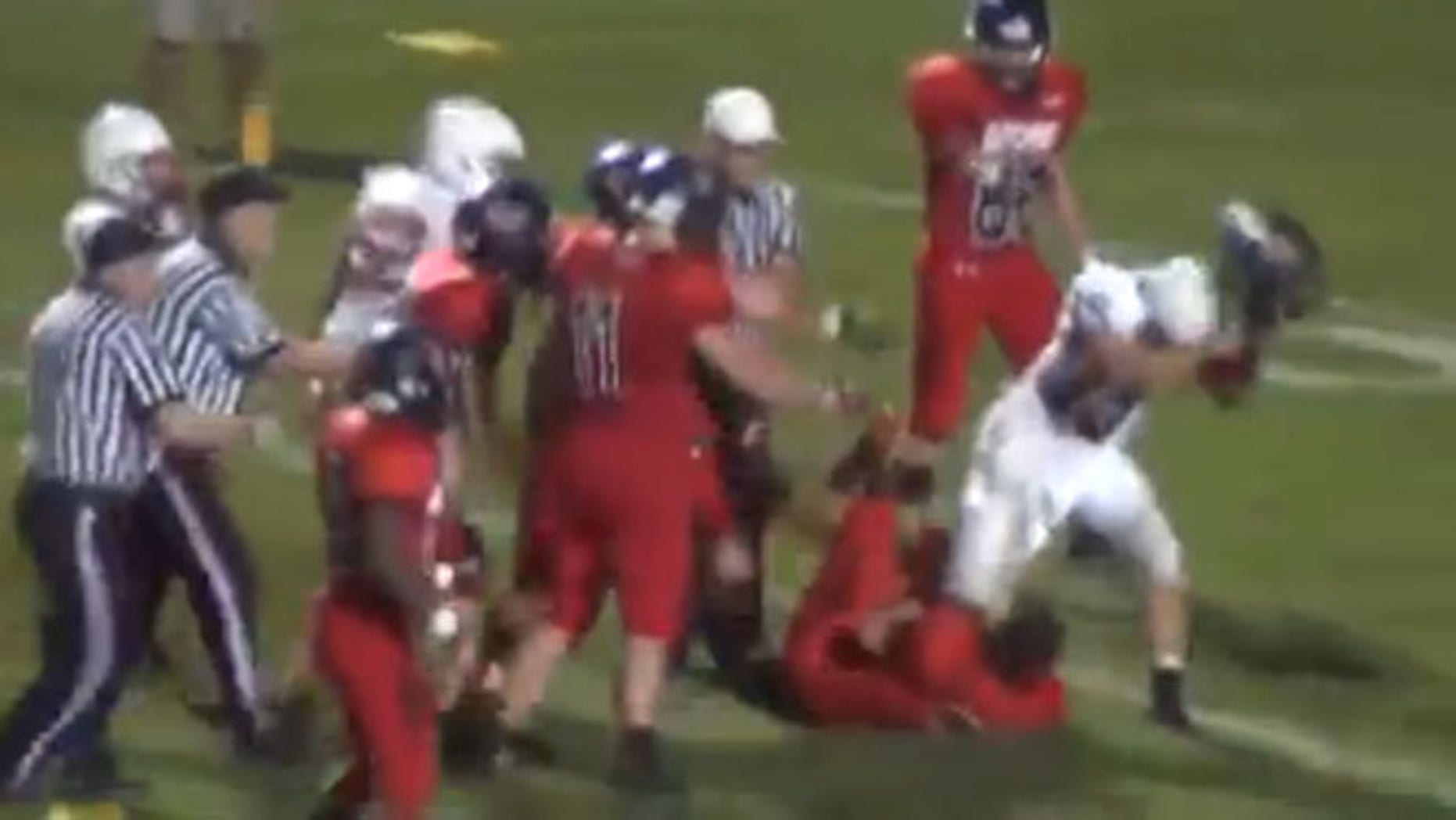Video from a September high school video game went viral after authorities say a player took the helmet off another player and struck him on the head with it.