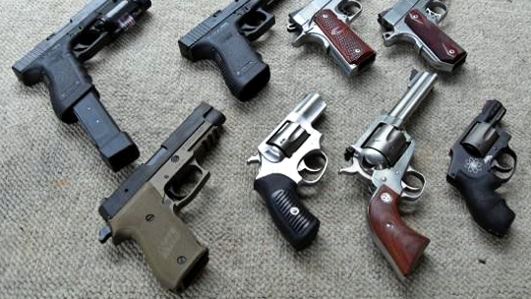 Semiautomatic handguns and revolvers