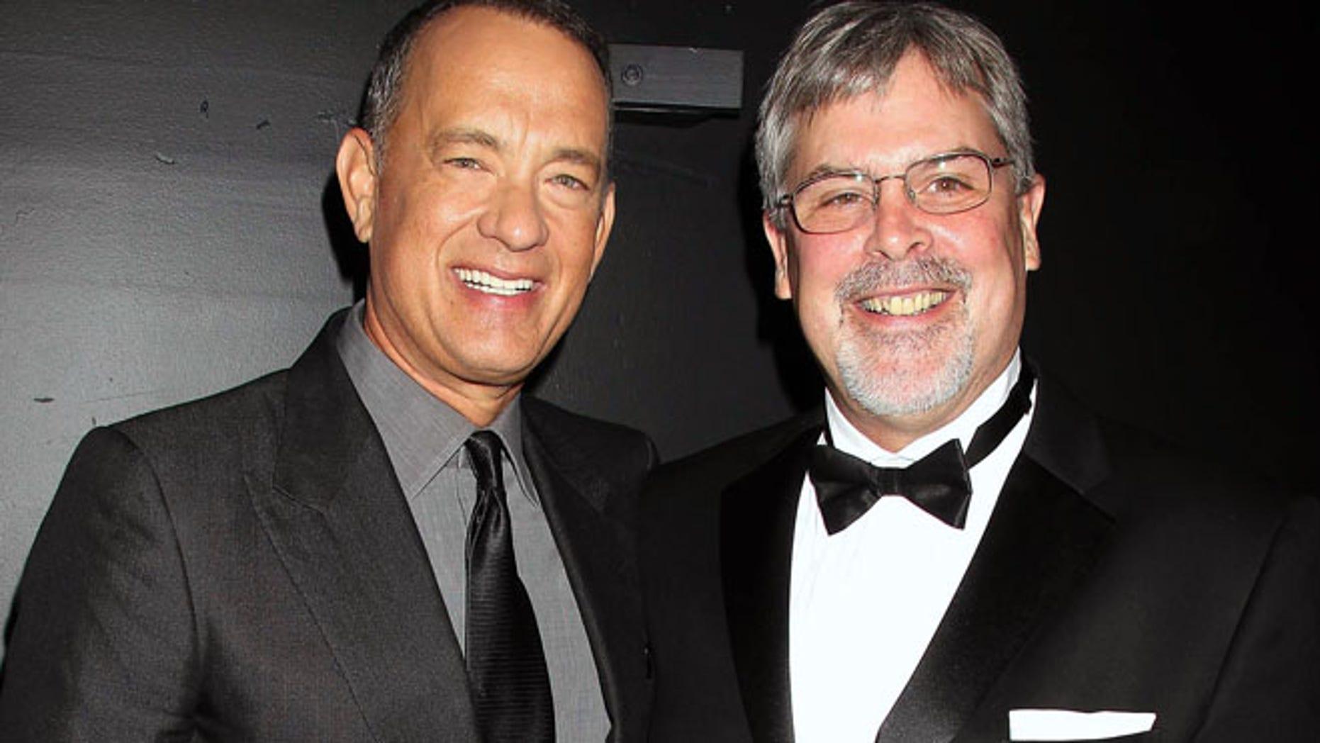 "Sept. 27: Tom Hanks and Capt. Richard Phillips attend the world premiere of ""Captain Phillips"" in New York."