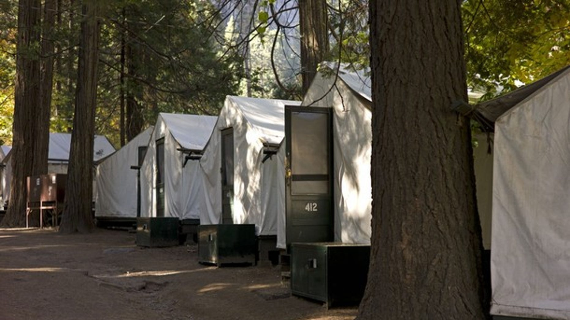 Oct. 23, 2011: Tents are seen in Curry Village in Yosemite National Park, Calif.