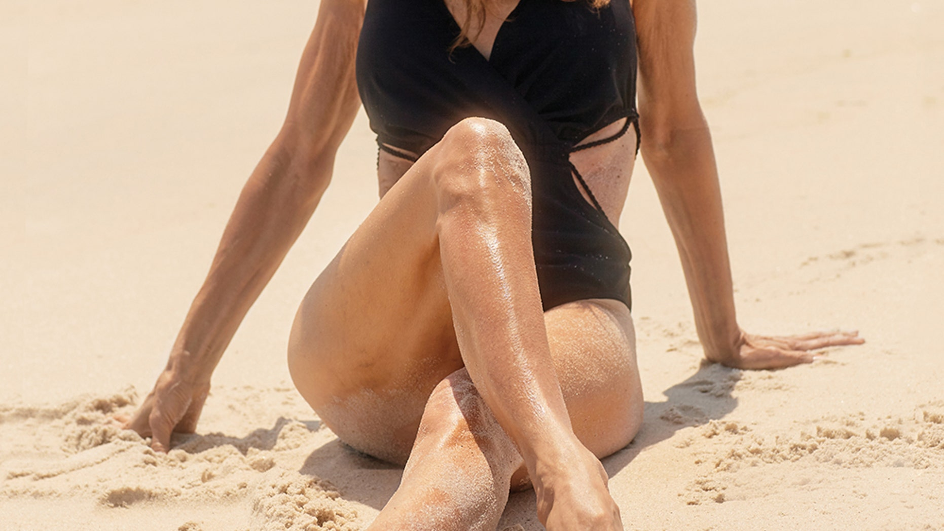 Susan Lucci hits the beach for Harper's Bazaar's October 2018 issue.