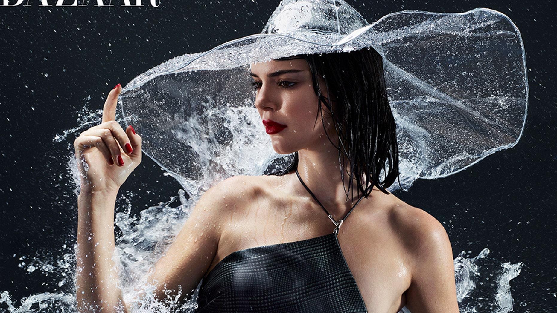 Model/reality TV star Kendall Jenner is the cover girl of Harper's Bazaar February 2018 issue.