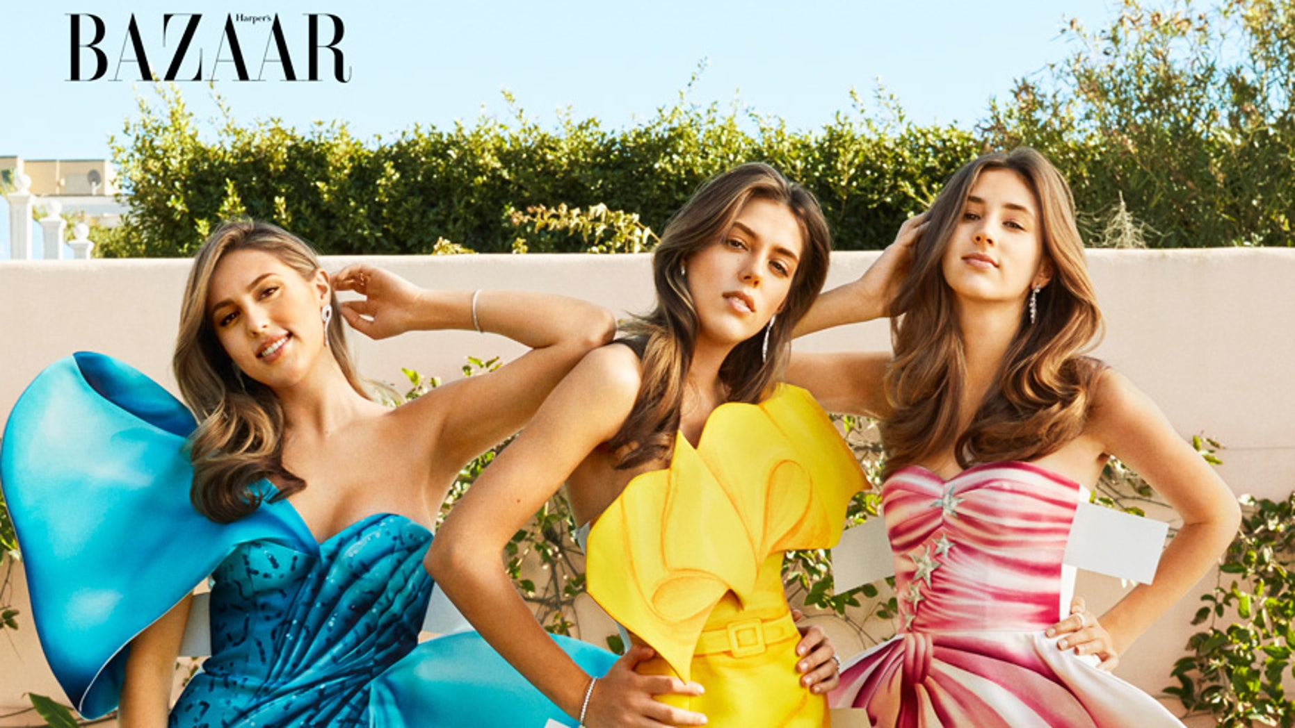 The Stallone sisters appear on the May 2017 issue of Harper's BAZAAR.