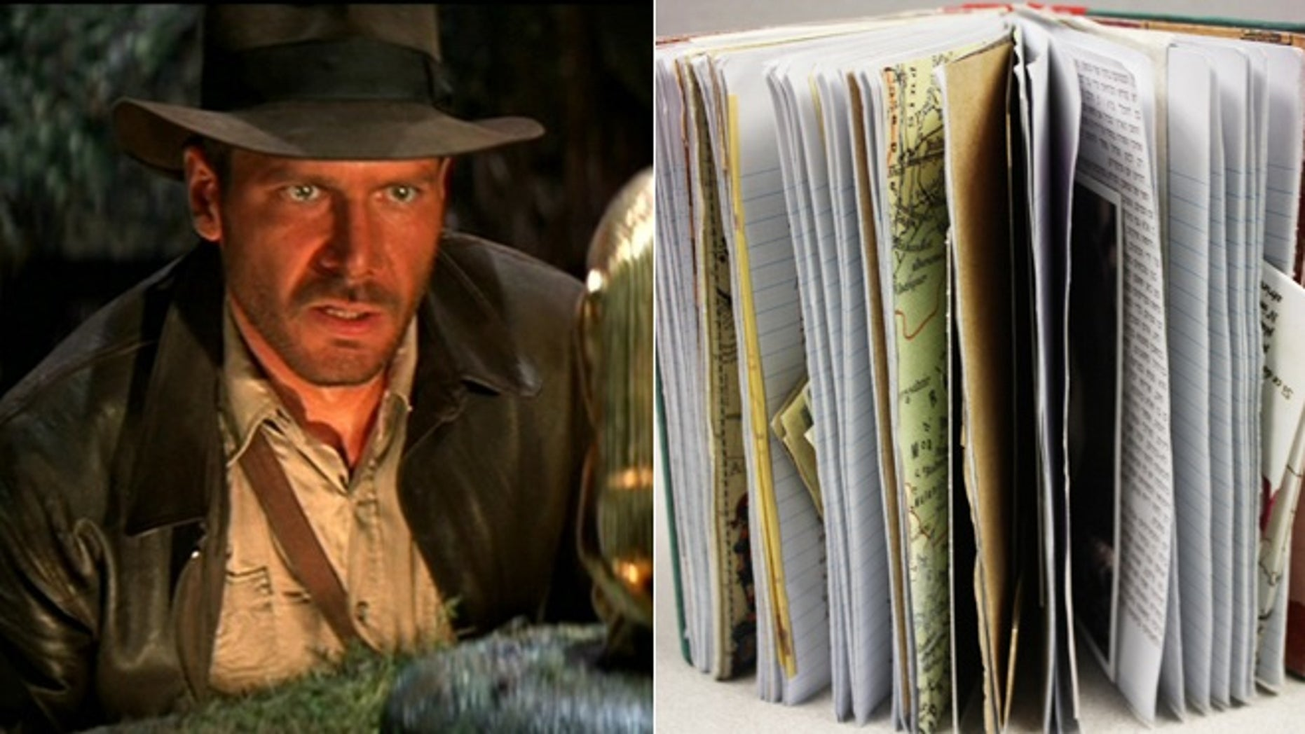 """The best possible explanation for an exact replica of the diary kept by Indiana Jones' mentor Abner Ravenwood in the iconic film """"Raiders of the lost ark""""? """"This should be in a museum!"""""""