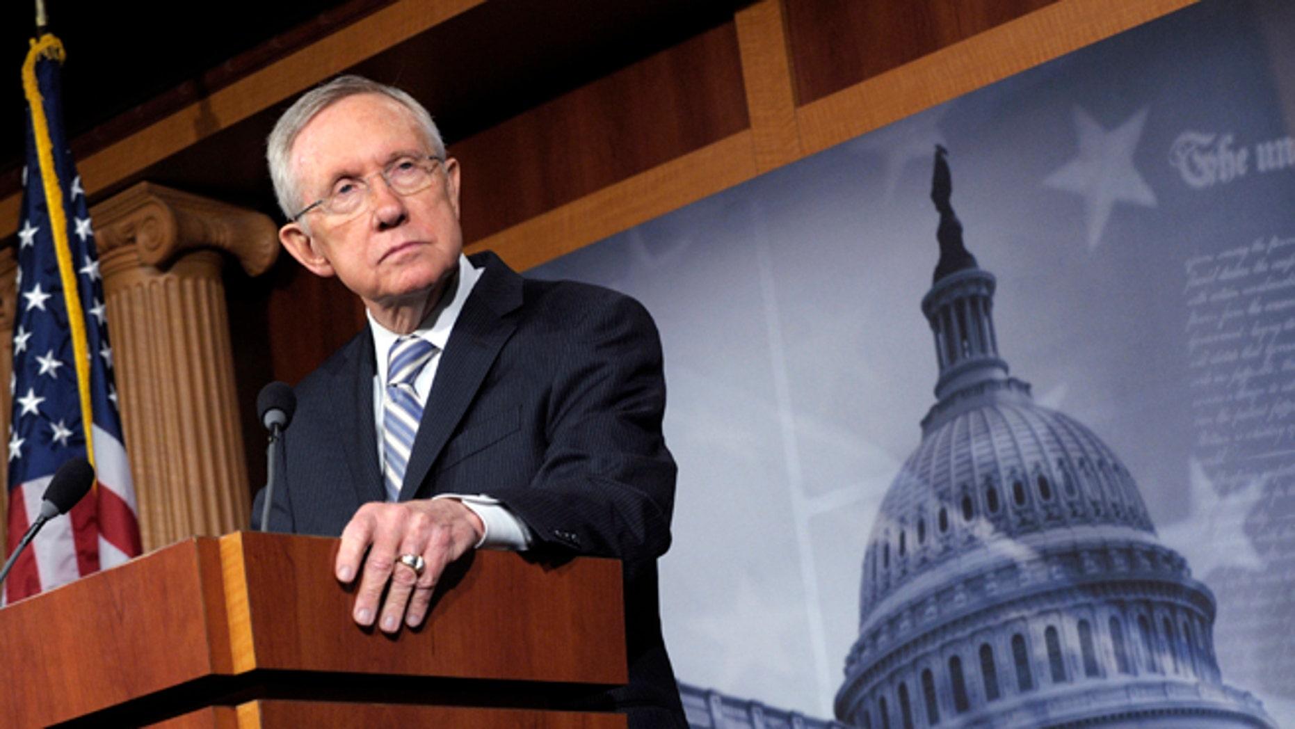 FILE:  Nov. 7, 2012: Senate Majority Leader Harry Reid on Capitol Hill in Washington, D.C.