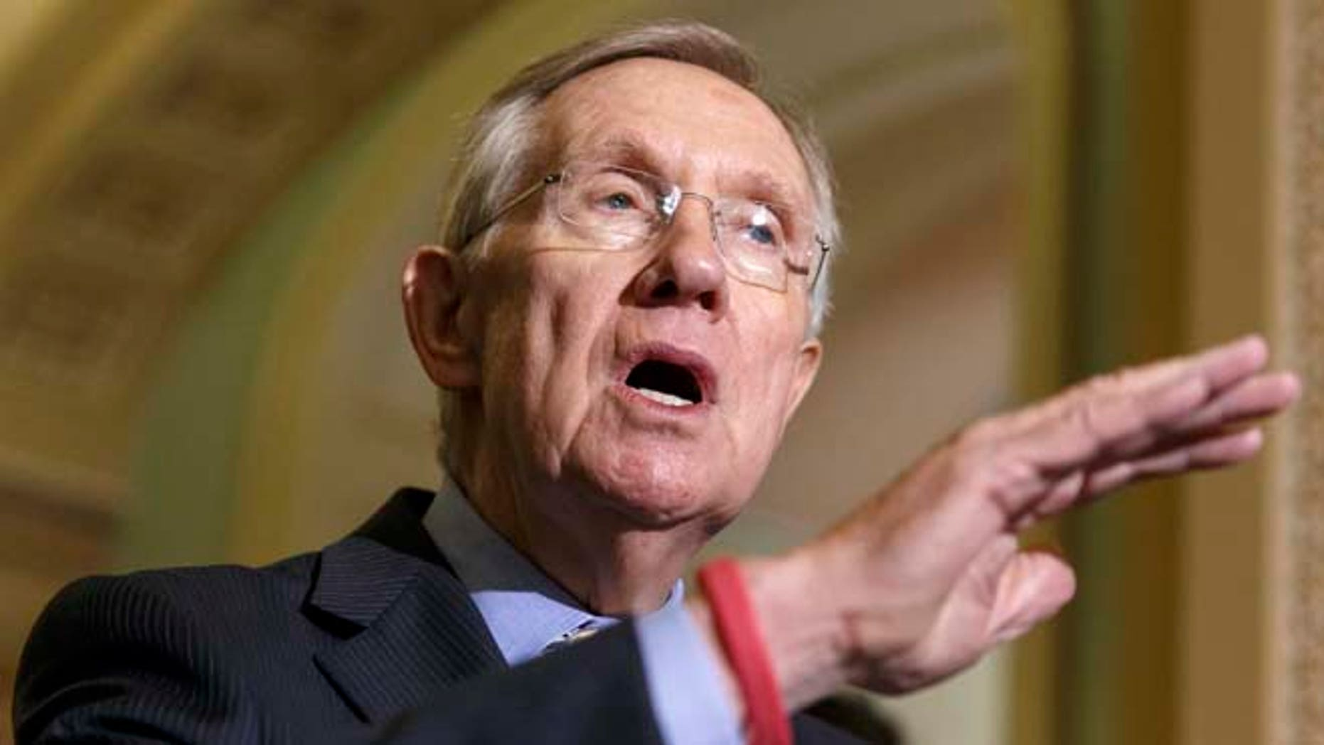 In this July 29, 2014 file photo, Senate Majority Leader Harry Reid of Nev. speaks on Capitol Hill in Washington.
