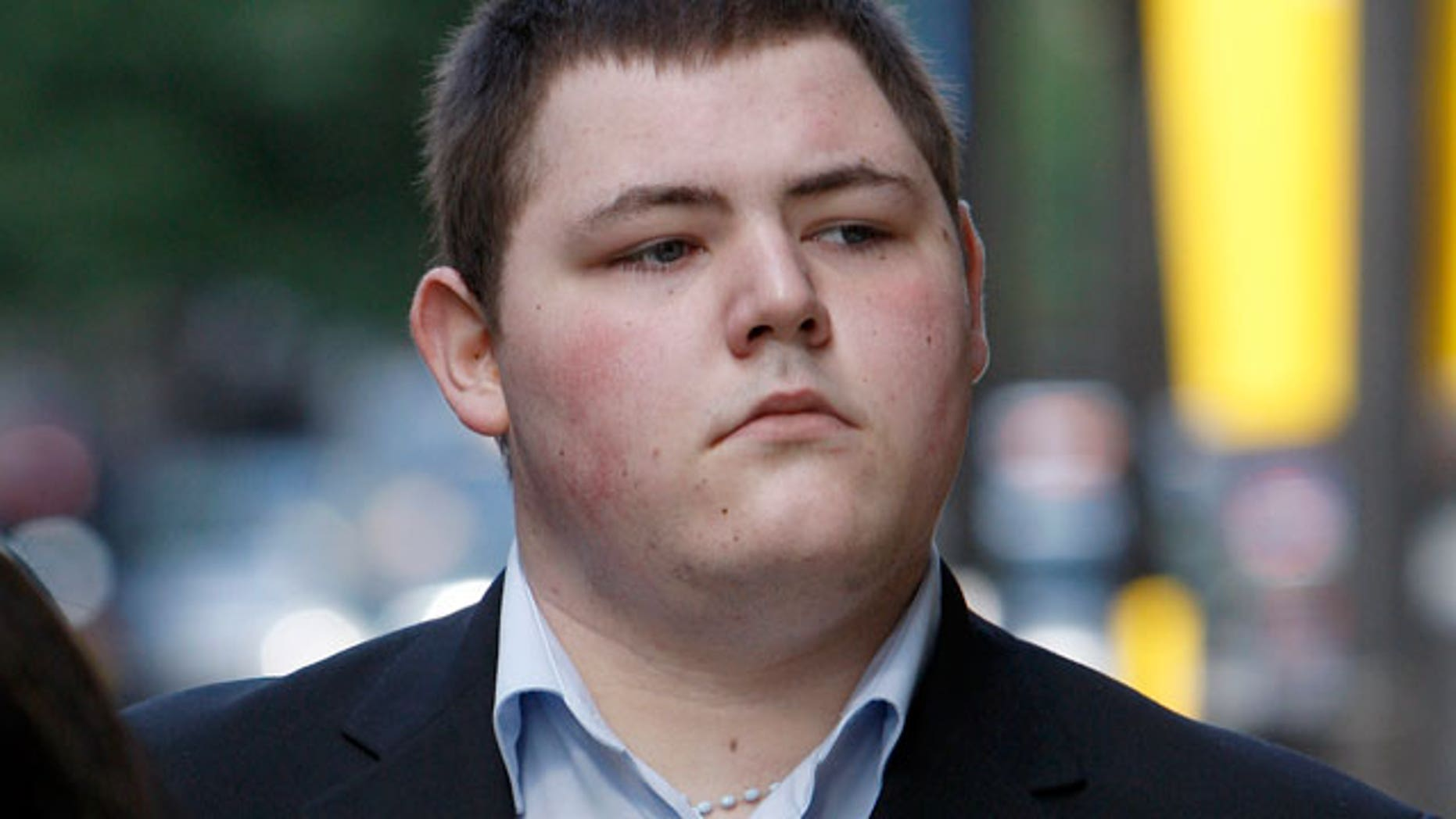 FILE: Actor Jamie Waylett arrives at Westminster Magistrates Court in London in July of 2009.