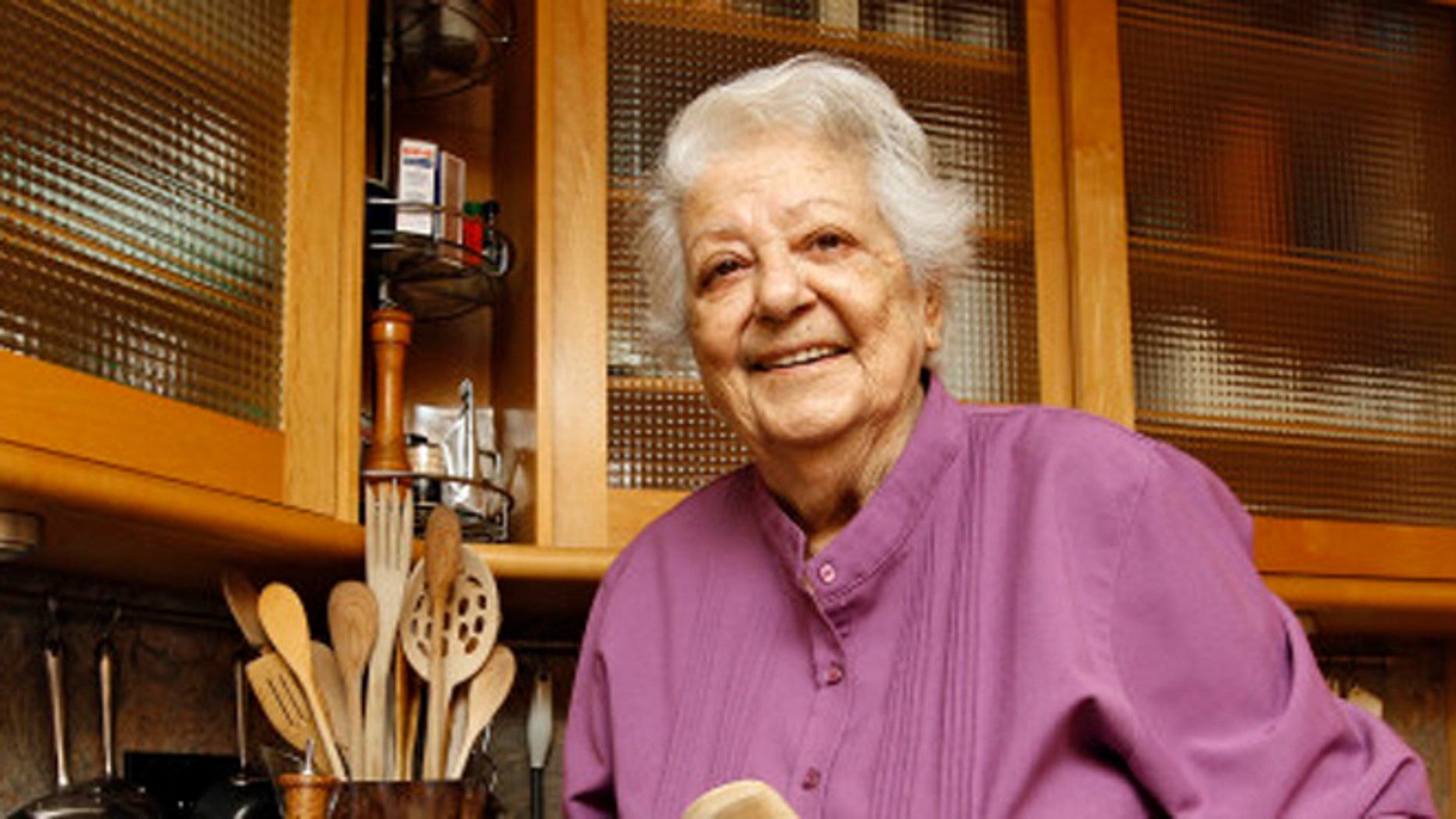 May 29, 2012: Chef Marcella Hazan posing in the kitchen of her Longboat Key, Fla., home.
