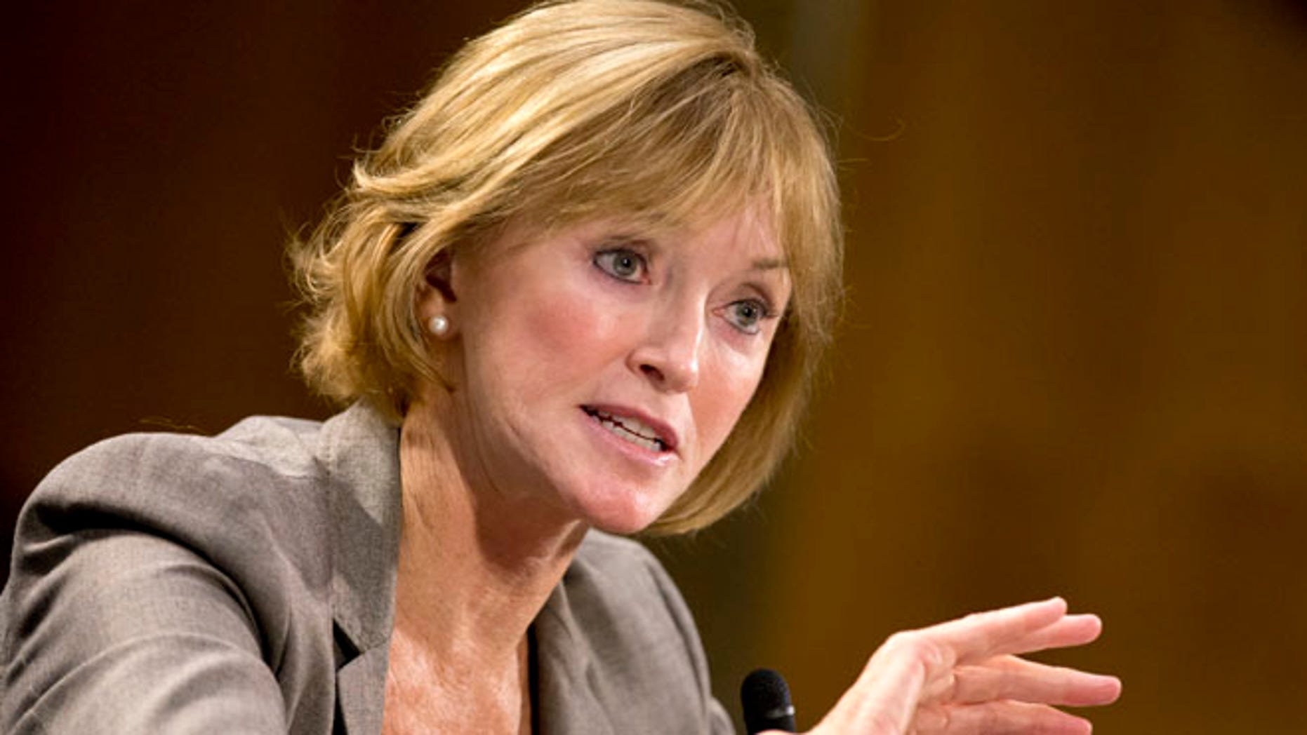 This Nov. 5, 2013 file photo shows Medicare chief Marilyn Tavenner testifying on Capitol Hill in Washington.