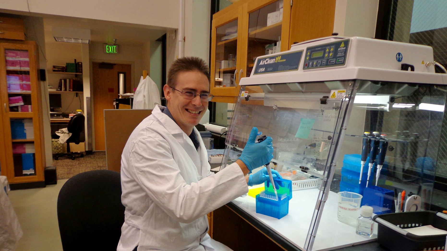 Scientist Rob Knight in his lab at the University of Colorado, Boulder, where he is leading the American Gut Project.