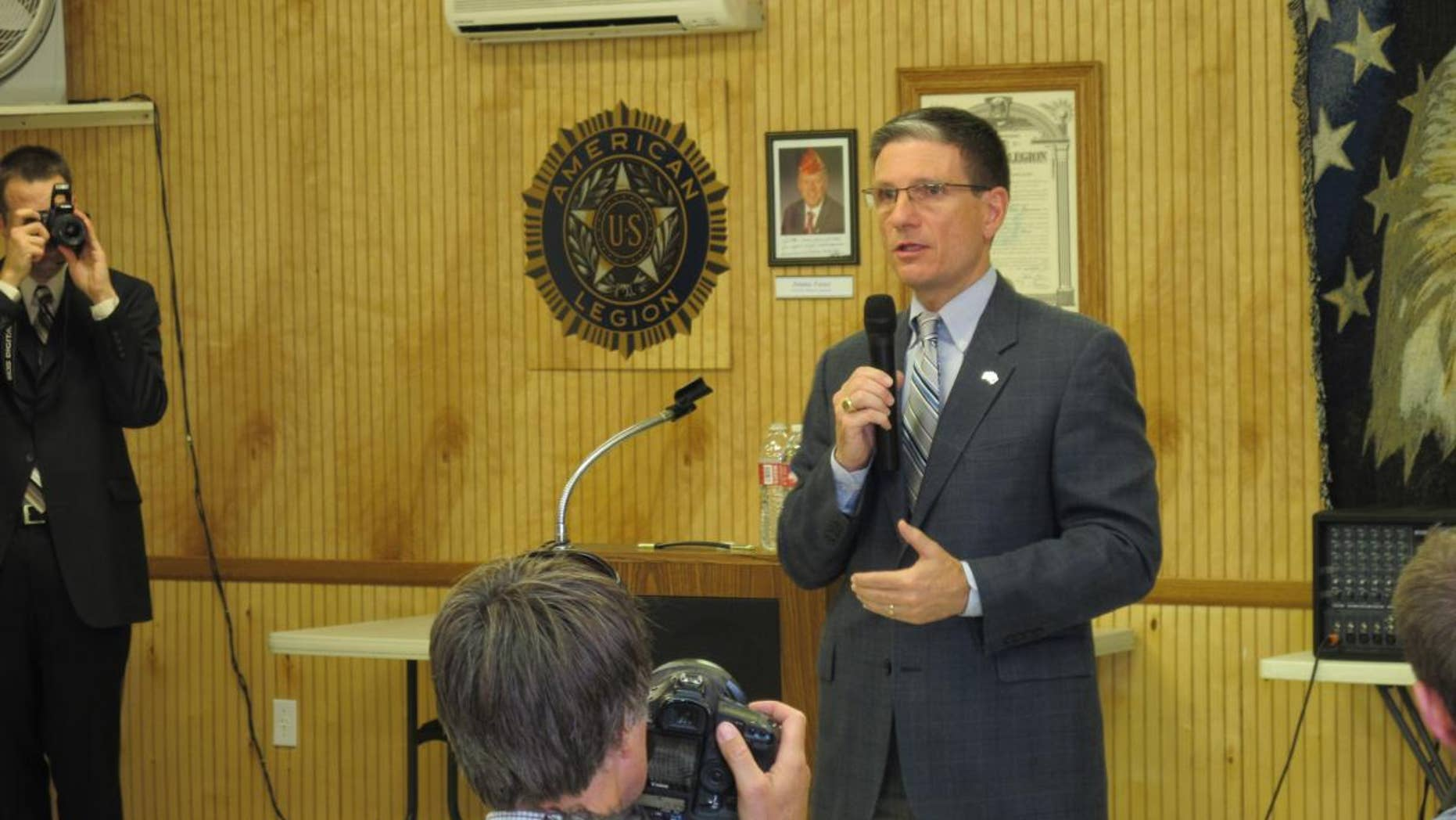 Rep. Joe Heck, R-Nev., speaks at a home state town hall Wednesday