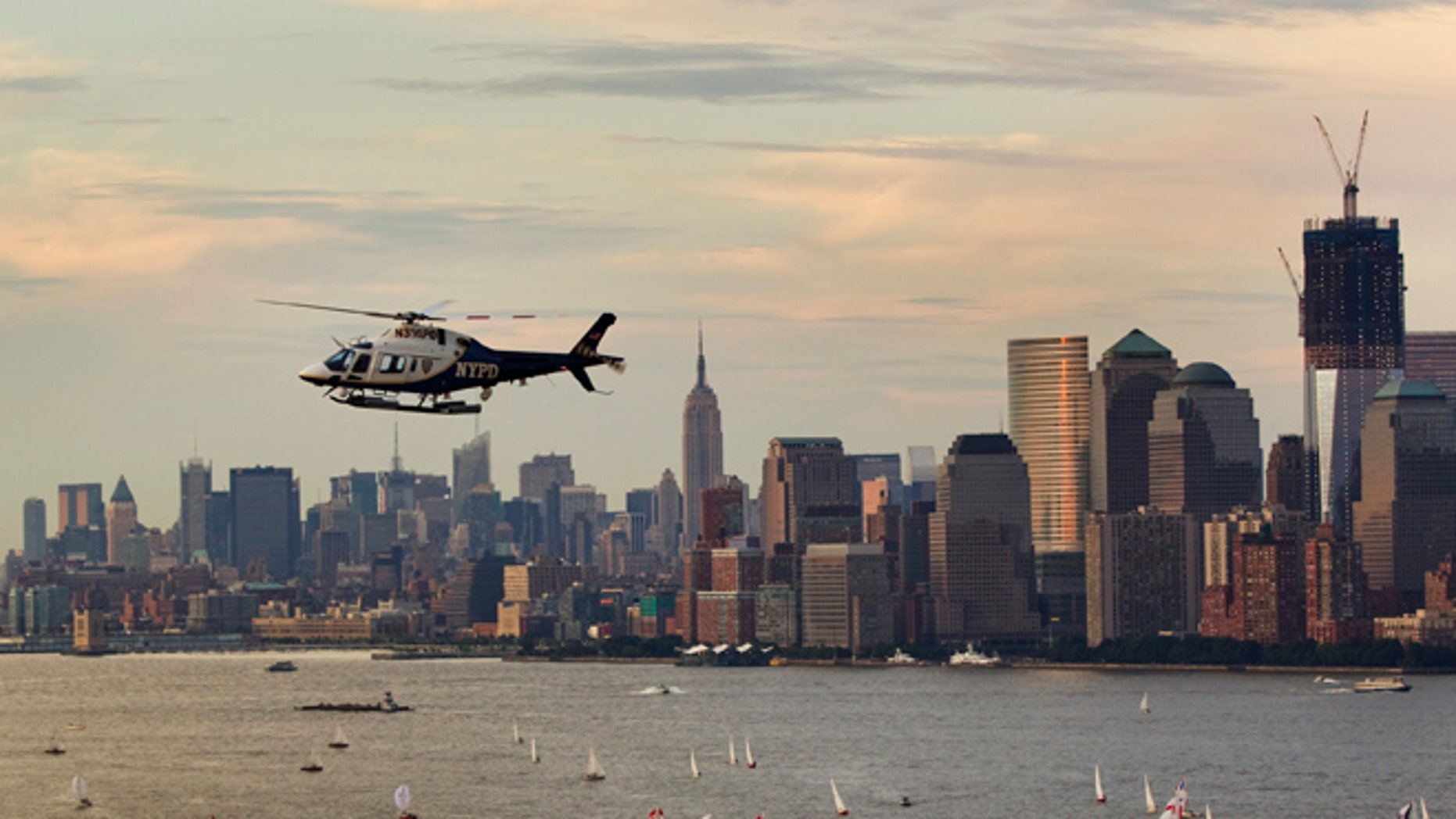 FILE 2011: A New York Police Department helicopter flies over Manhattan while on patrol above New York.